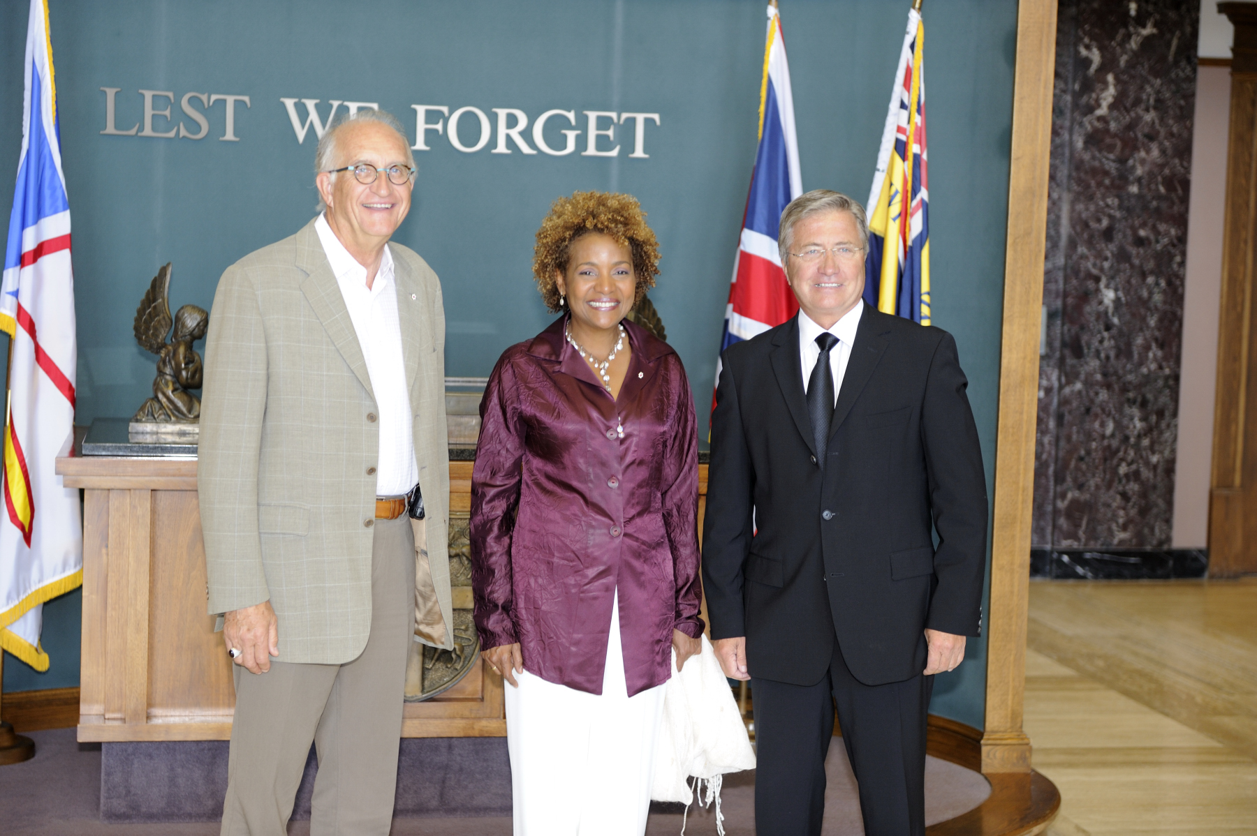 Their Excellencies spoke in private with Premier Williams before undertaking a visit of the province.