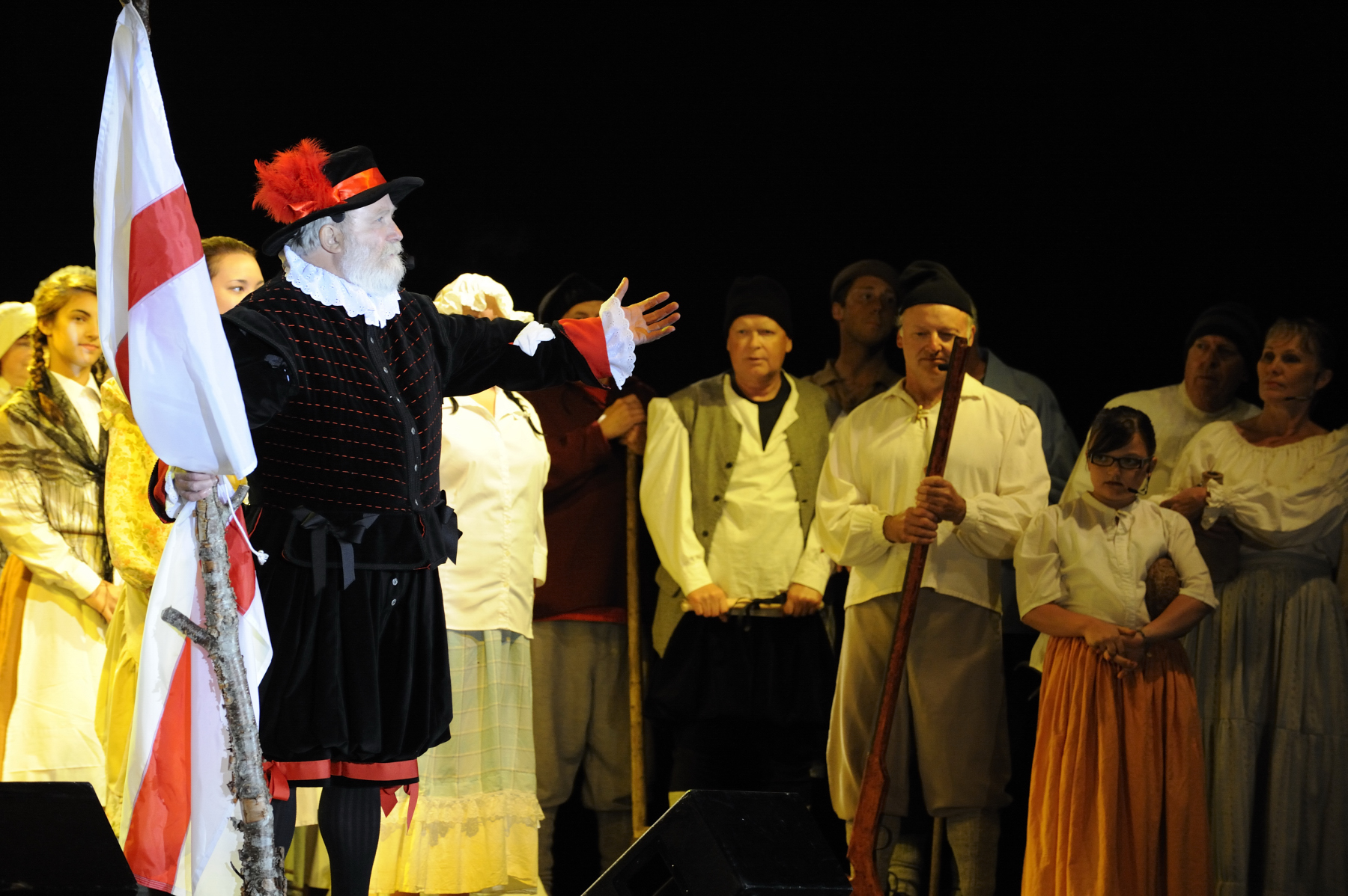 "The stage show ""Seeds of Settlement"" celebrated the 400th anniversary of Cupids."