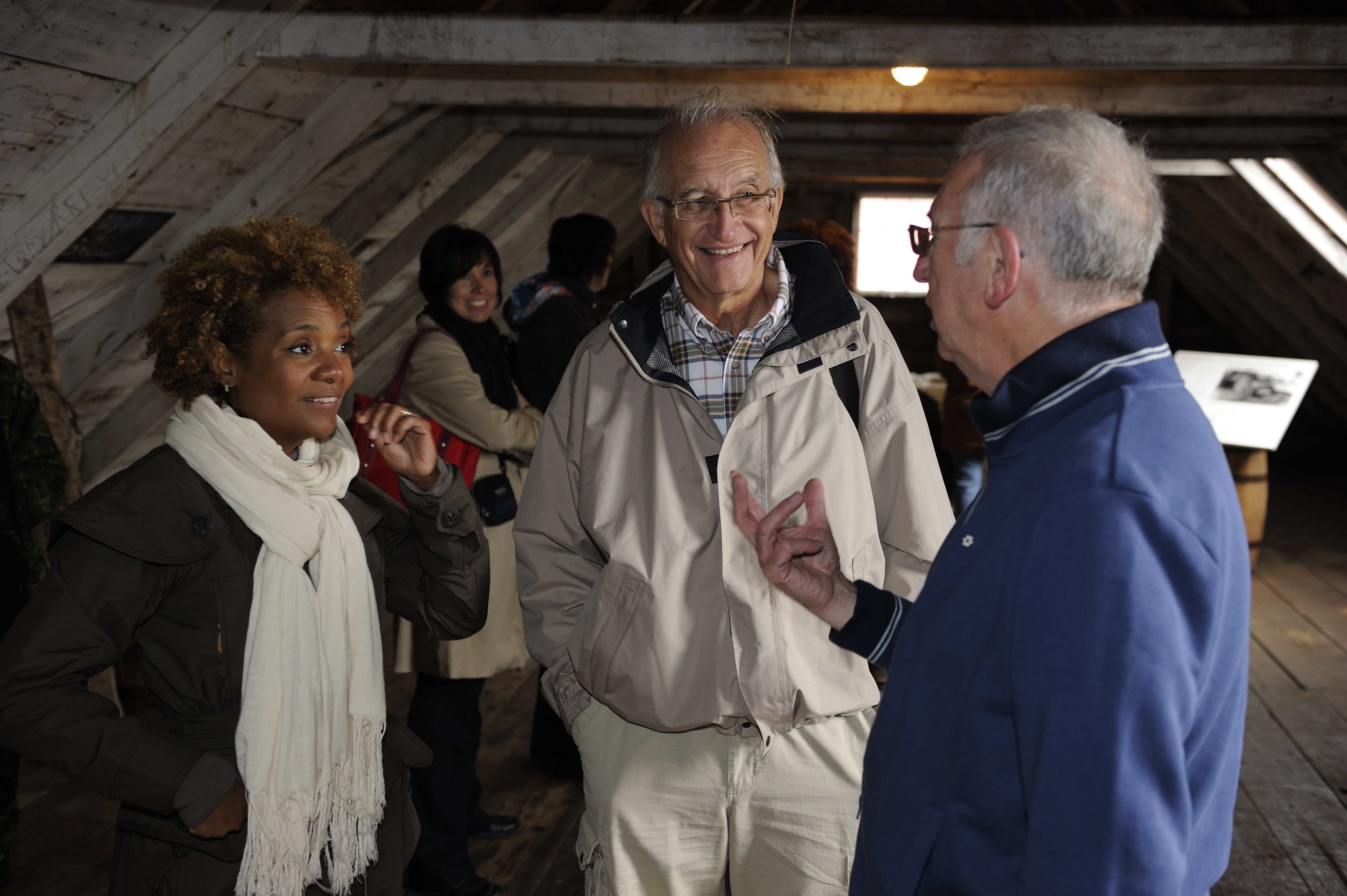 Their Excellencies were welcomed and given a tour of Battle Harbour by 