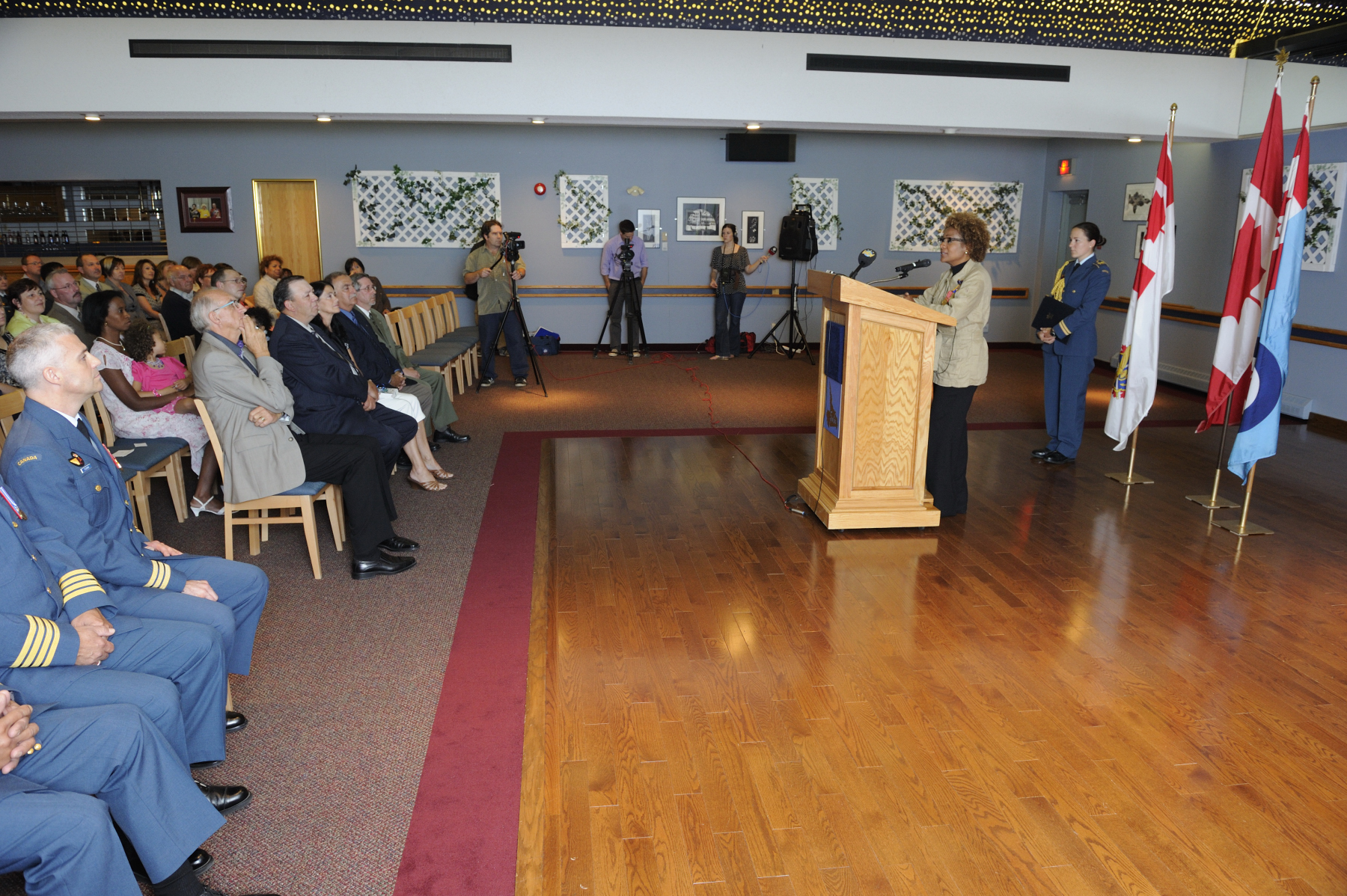 Her Excellency addressed a few words to the Military and Civil staff and their families who gathered for the occasion.