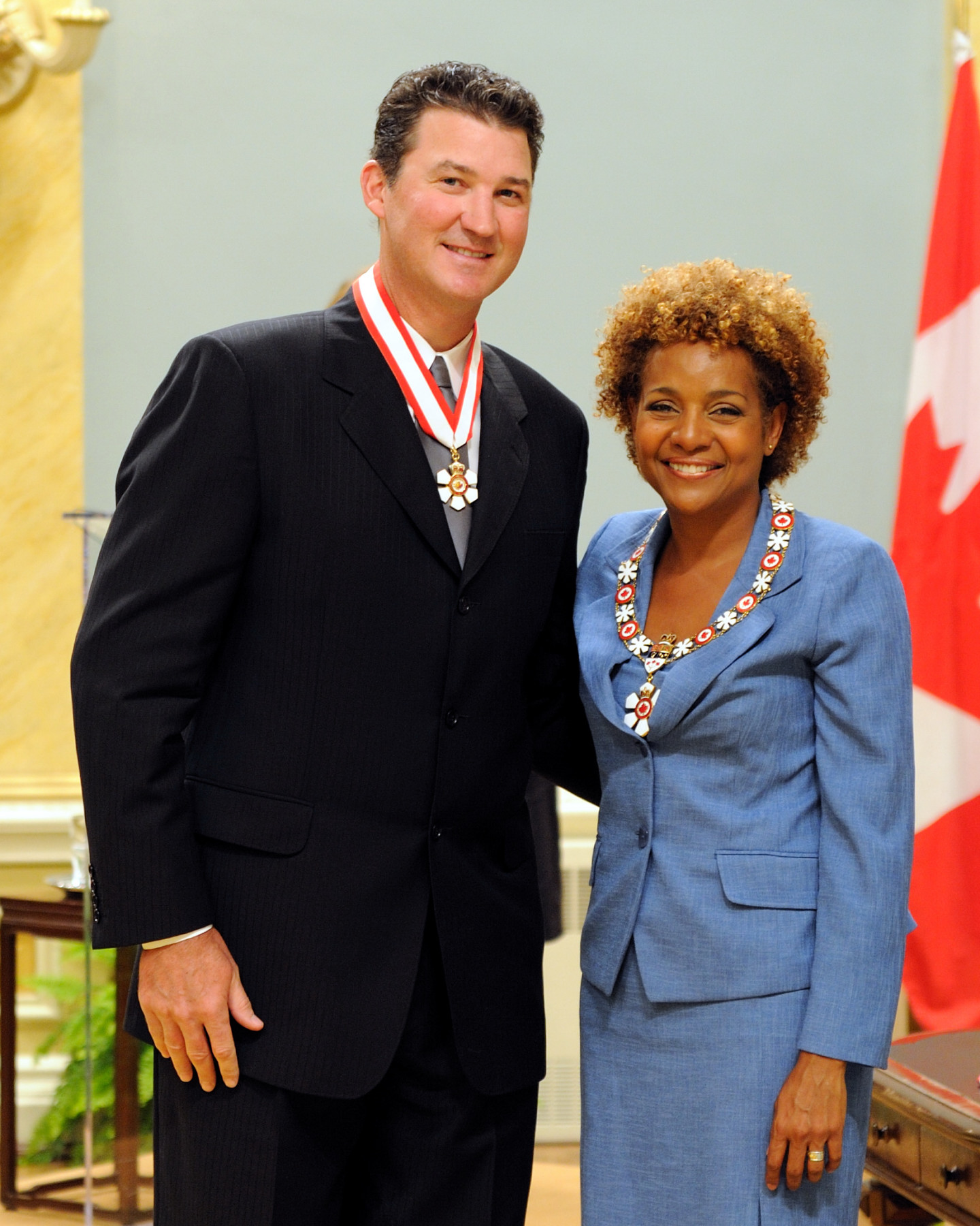 Mario Lemieux (Pittsburgh, Pennsylvania, U.S.A. and Montréal, Quebec) is one of Canada's greatest hockey legends and is an inspirational role model. A gifted forward with the Pittsburgh Penguins, he won numerous awards for his scoring skills and his leadership on the ice. He also captained Canada's men's hockey team to gold at the 2002 Winter Olympics. His attitude in coming back from serious health issues during his on-ice career has set an example of the power of determination and perseverance for young players. Now a co-owner of the Penguins, he also supports fundraising initiatives for the Hockey Canada Foundation and the Mario Lemieux Foundation, which provide funds for medical and other charitable organizations.