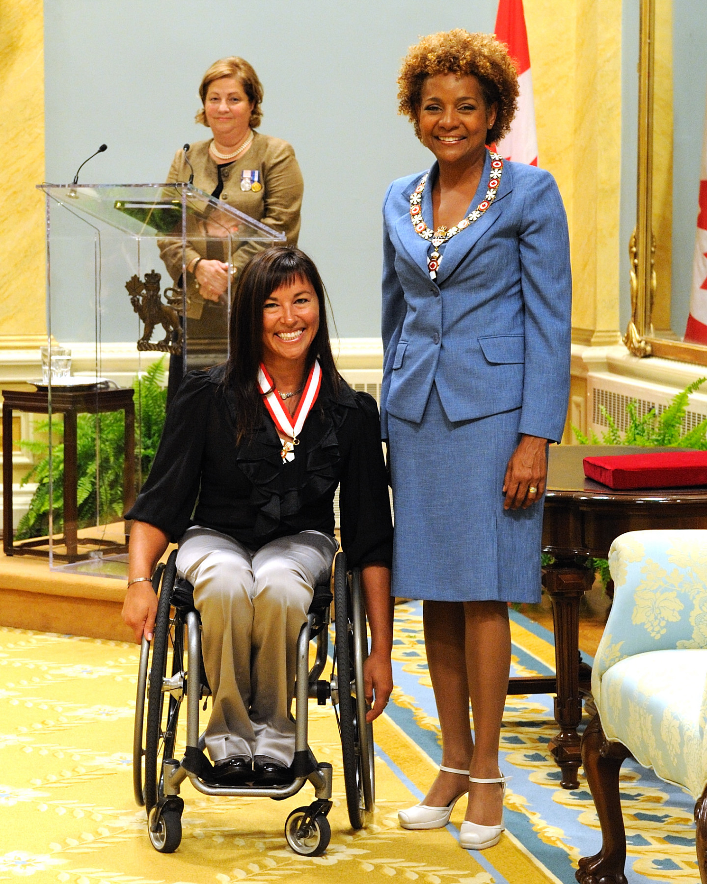 Chantal Petitclerc (Montréal, Quebec) is a model of determination and excellence. At the age of 13, an accident left her with a damaged spinal column and at the age of 18, she took part in her first wheelchair race. Although she finished last, she fell in love with racing. Since then, she has won the most medals in Canadian track and field history, with a total of 21 medals from five Paralympic Games. She also holds four world records and five Paralympic records. A spokesperson for Défi sportif and a sought-after guest speaker, she motivates people to conquer adversity and contributes to the development of handisports. She is a source of inspiration all around the world. Known for her achievements and as a role model for others, she has won the Laureus World Sports Award and was the first female Paralympic athlete to win the Lou Marsh Award as Canada's Athlete of the Year.