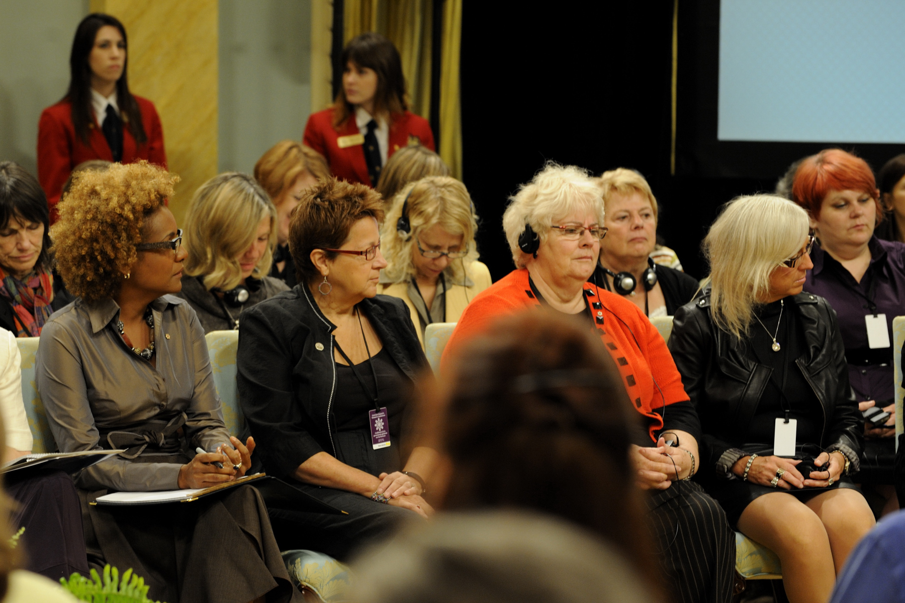 "The conference ""Together for Women's Security"" gathered at Rideau Hall women and men from all provinces and territories. Throughout her mandate, the Governor General was determined to break down the wall of indifference by giving a voice to women. Therefore, she made it a priority to meet and engage with women during her visits throughout the country and abroad."