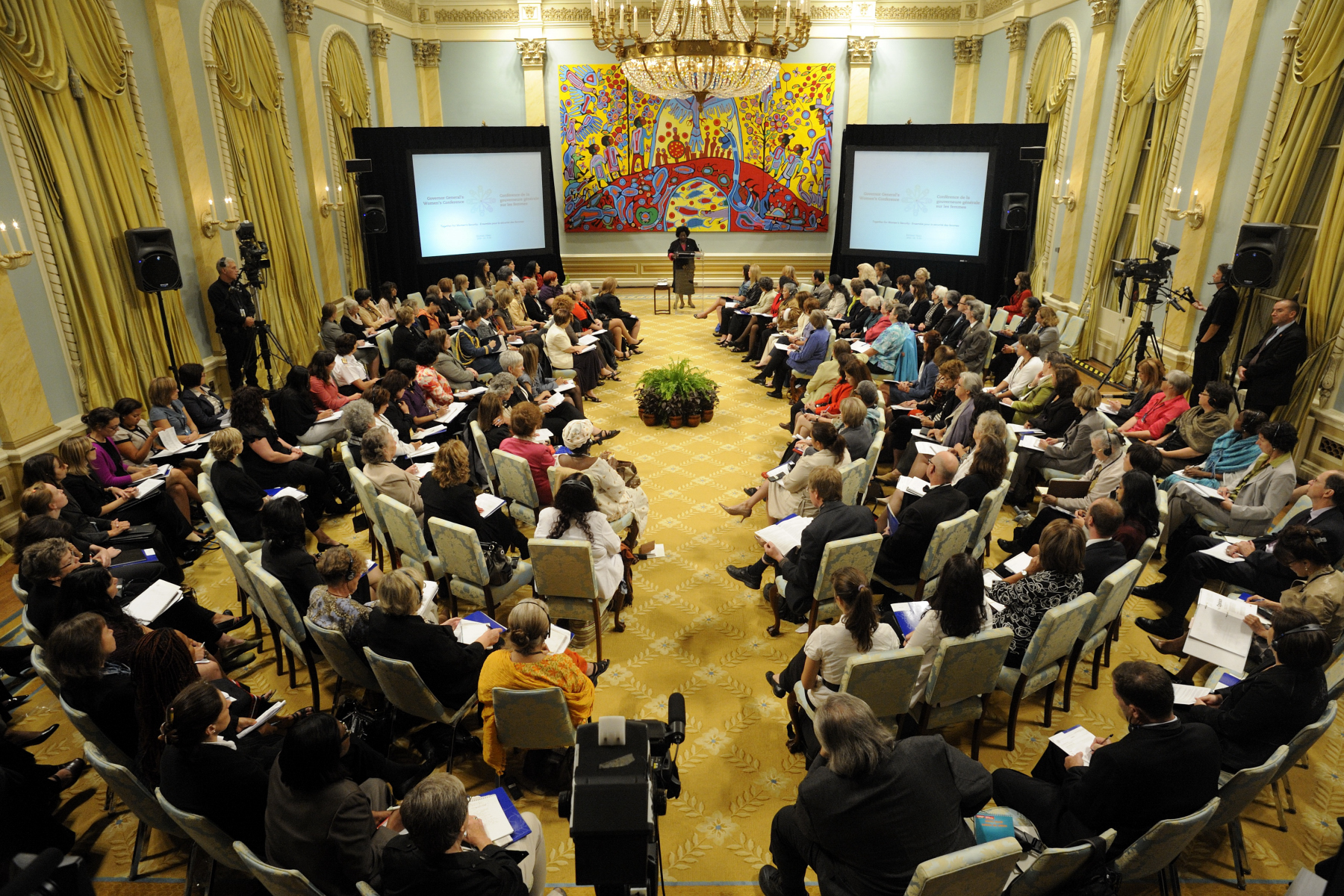 Close to 150 participants attended the event that took place at Rideau Hall.