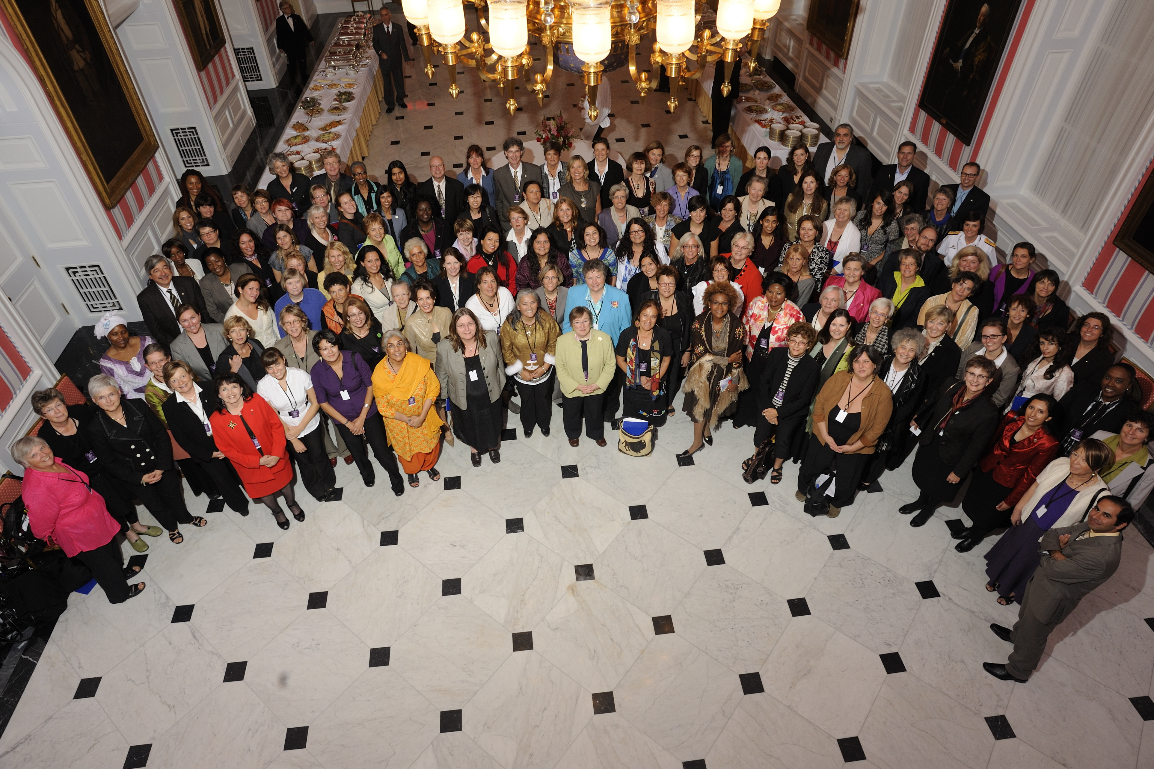 A group photo of the participants to the event. They came from all backgrounds and from everywhere in Canada.