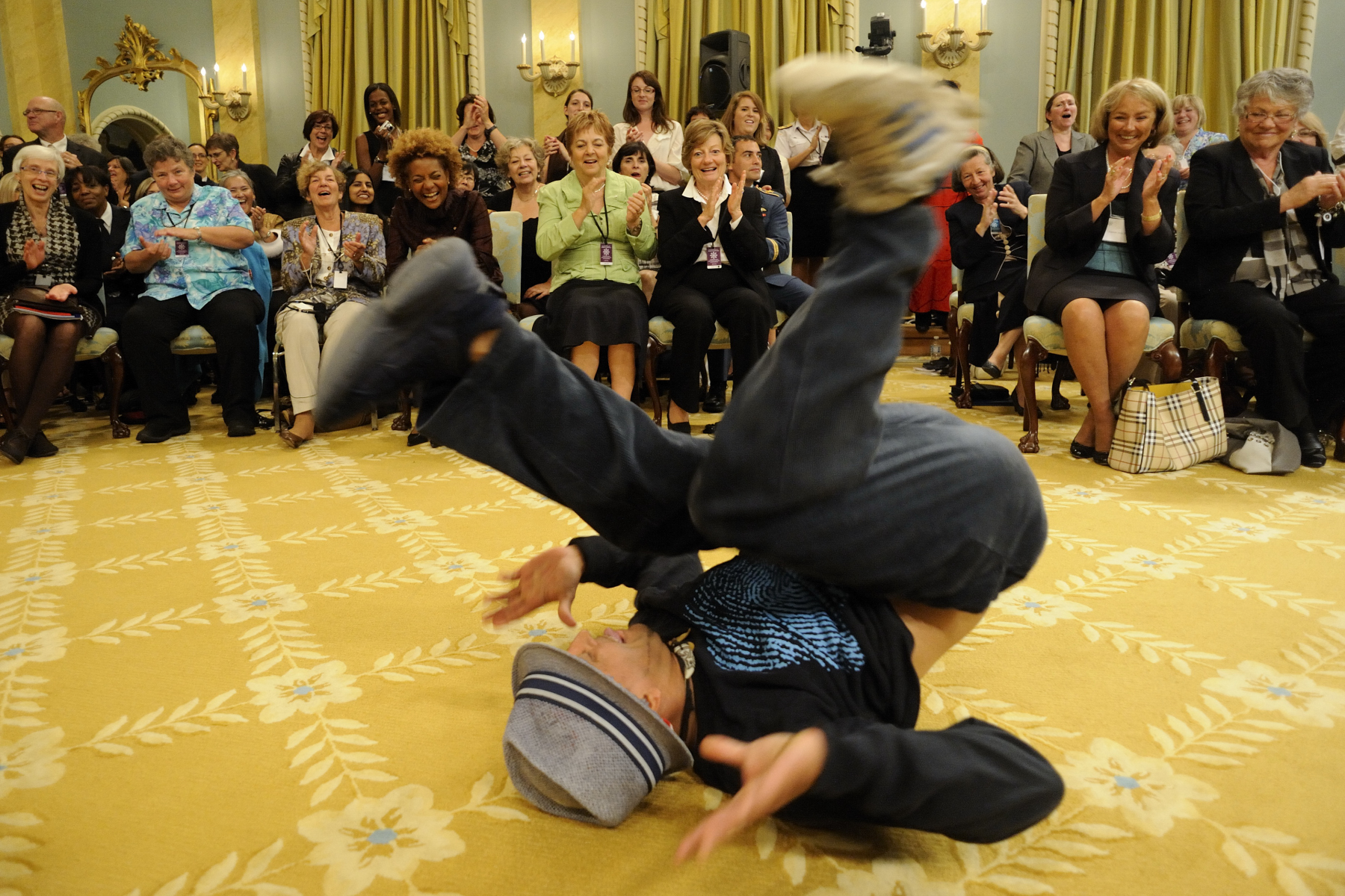 A bit of breakdancing...