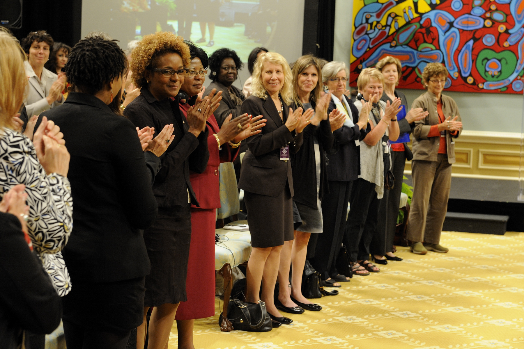 "An incredible energy was present throughout the Governor General's Women's Conference ""Together for Women's Security""."