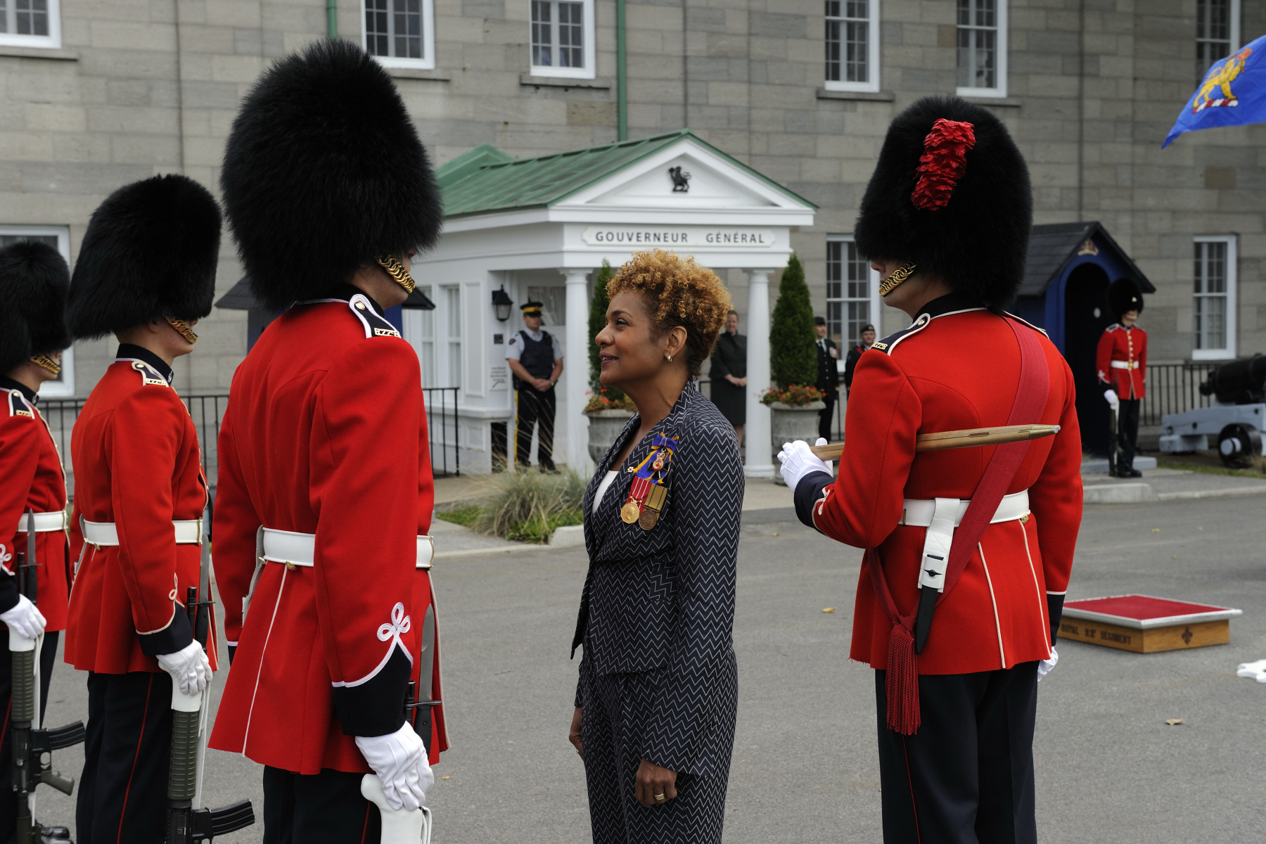 Their Excellencies the Right Honourable Michaëlle Jean, Governor General of Canada, and Mr. Jean-Daniel Lafond, are visiting the Residence of the Governor General at the Citadelle of Québec on September 15 and 16, 2010.