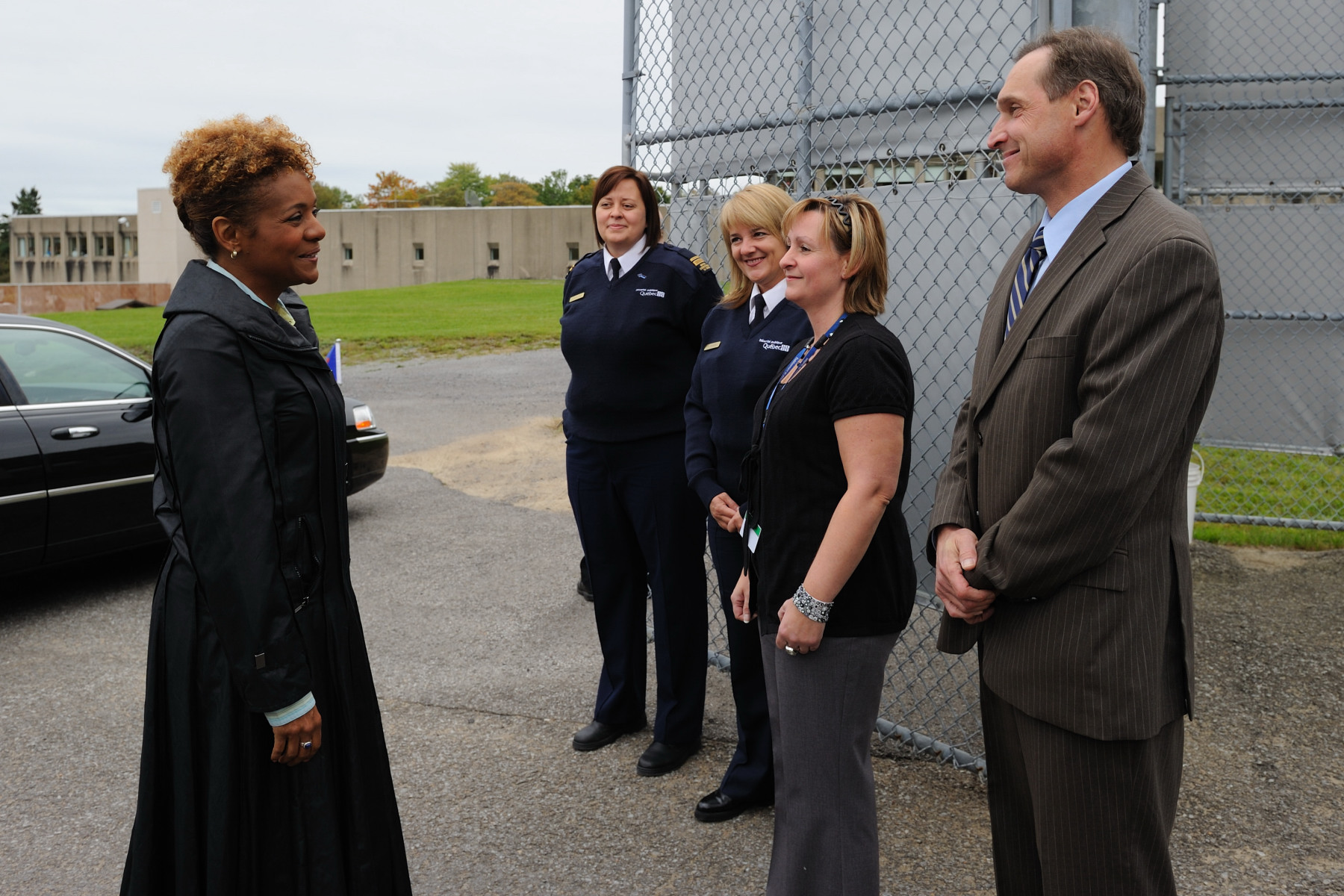 Her Excellency the Right Honourable Michaëlle Jean, Governor General of Canada, visited the Établissement de détention de Québec, previously known as the Orsainville prison