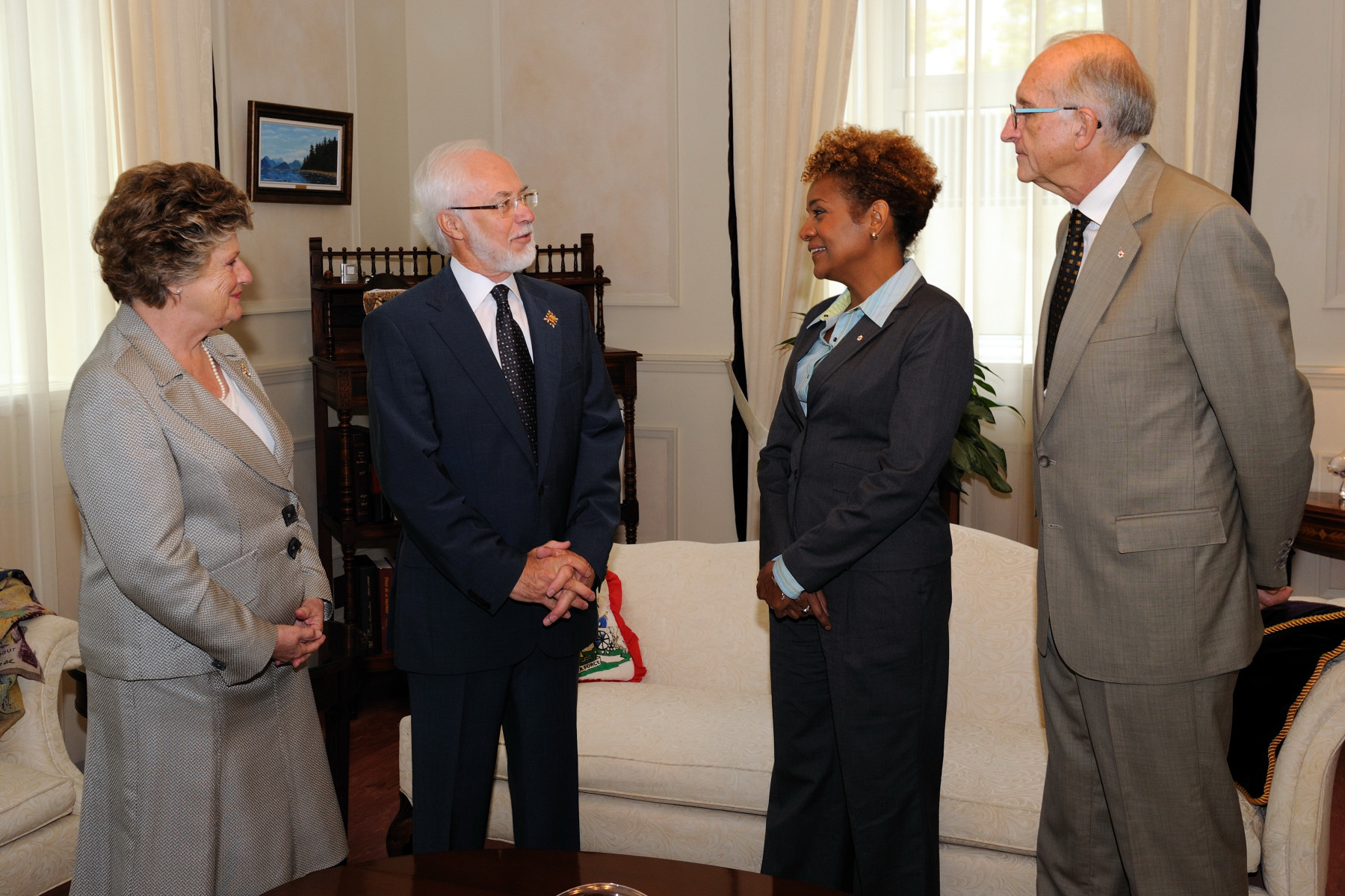 During their visit to Québec City, Their Excellencies also met with the Honourable Pierre Duchesne, Lieutenant Governor of Quebec, and his wife.