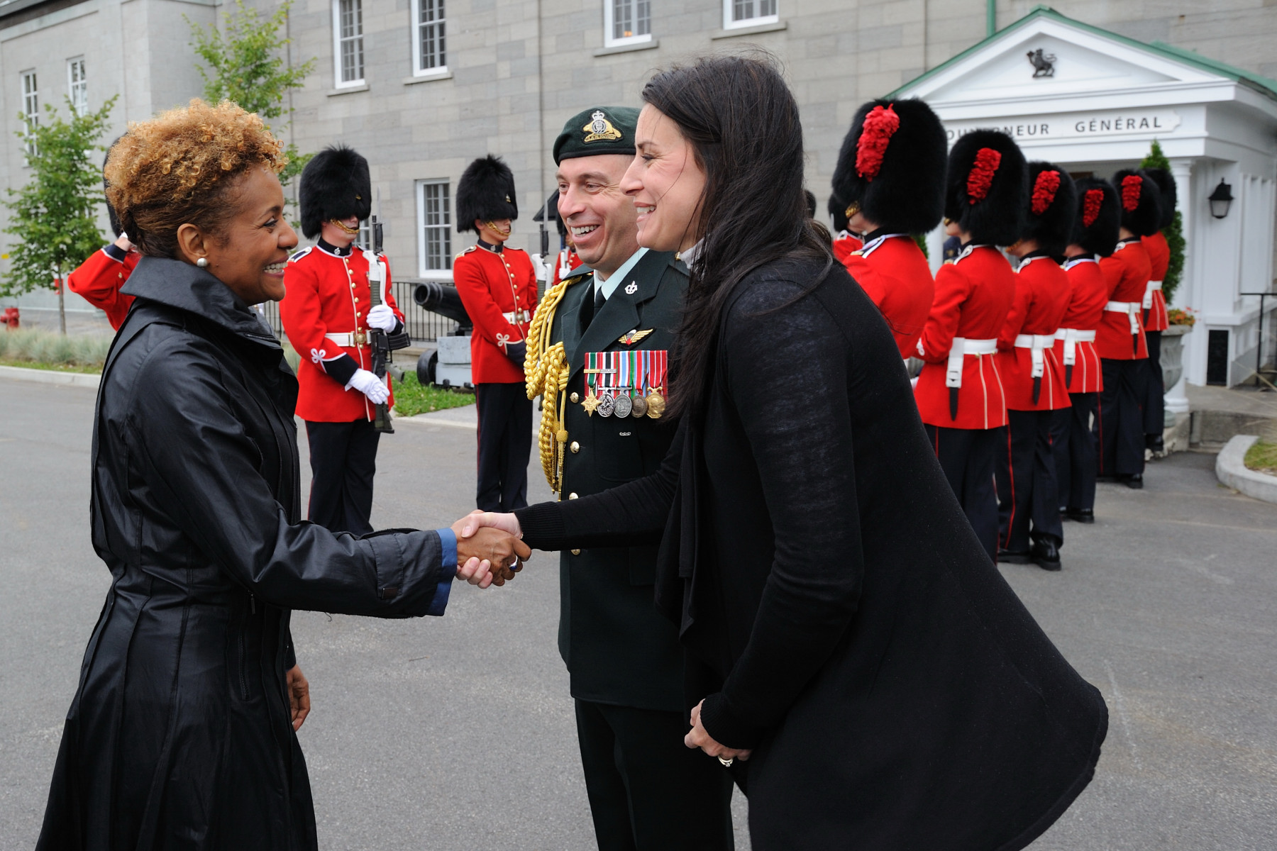 Her Excellency also thanked the Canadian Forces for their outstanding work on the grounds.