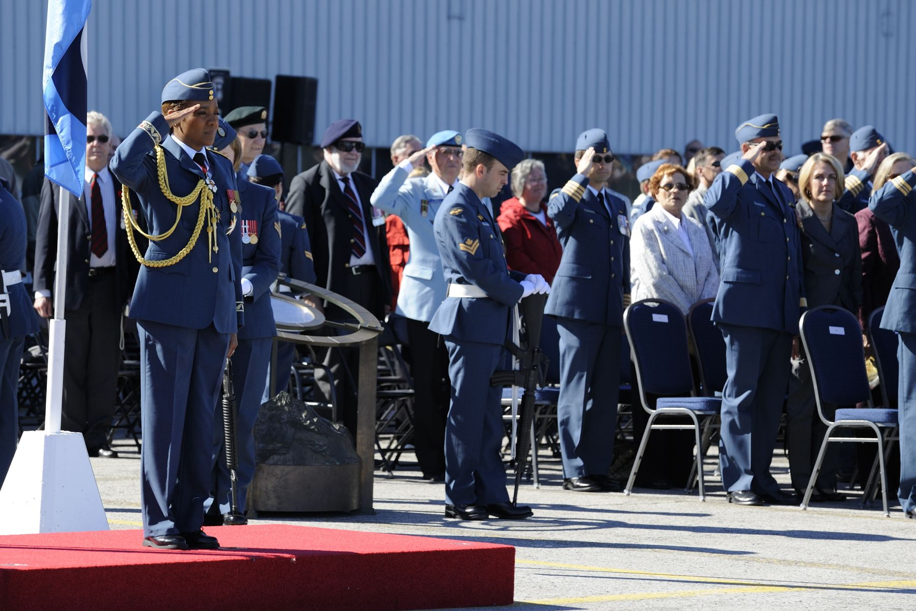 The Governor General and Commander-in-Chief of Canada took part in the ceremony marking the 70th anniversary of the Battle of Britain at the Canada Aviation and Space Museum.