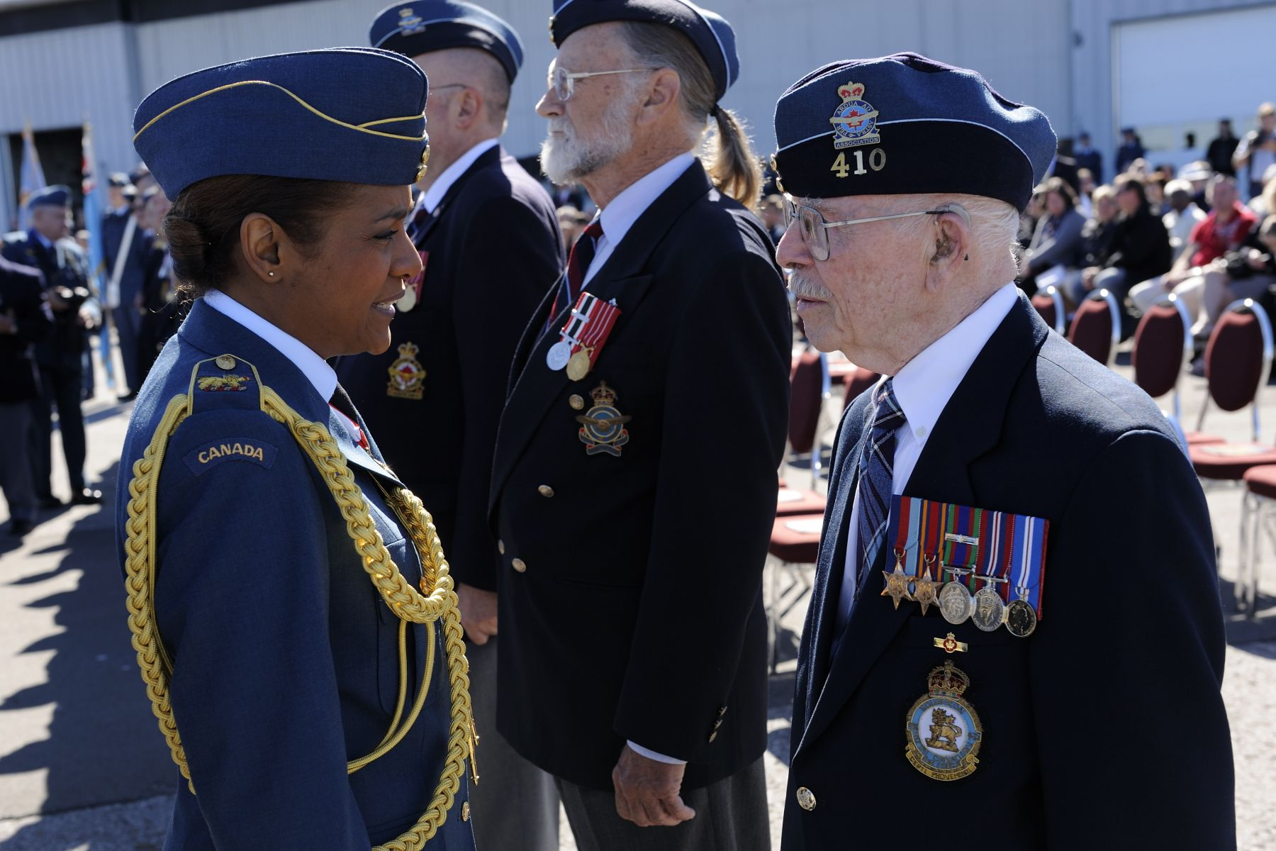The Governor General took the time to speak with many of the veterans.
