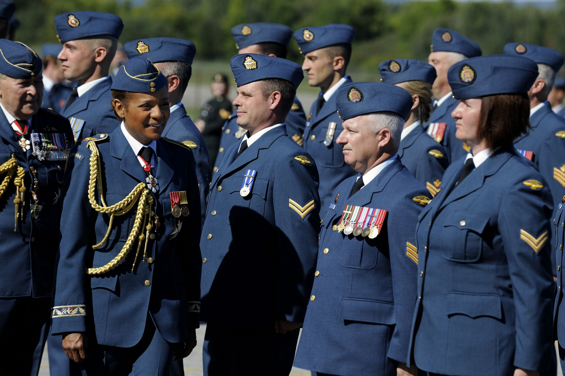 The Battle of Britain parade honours and commemorates the members of the Air Force who fought and died during the battle, as well as recognizes all the men and women who continue to serve in the Air Force today.
