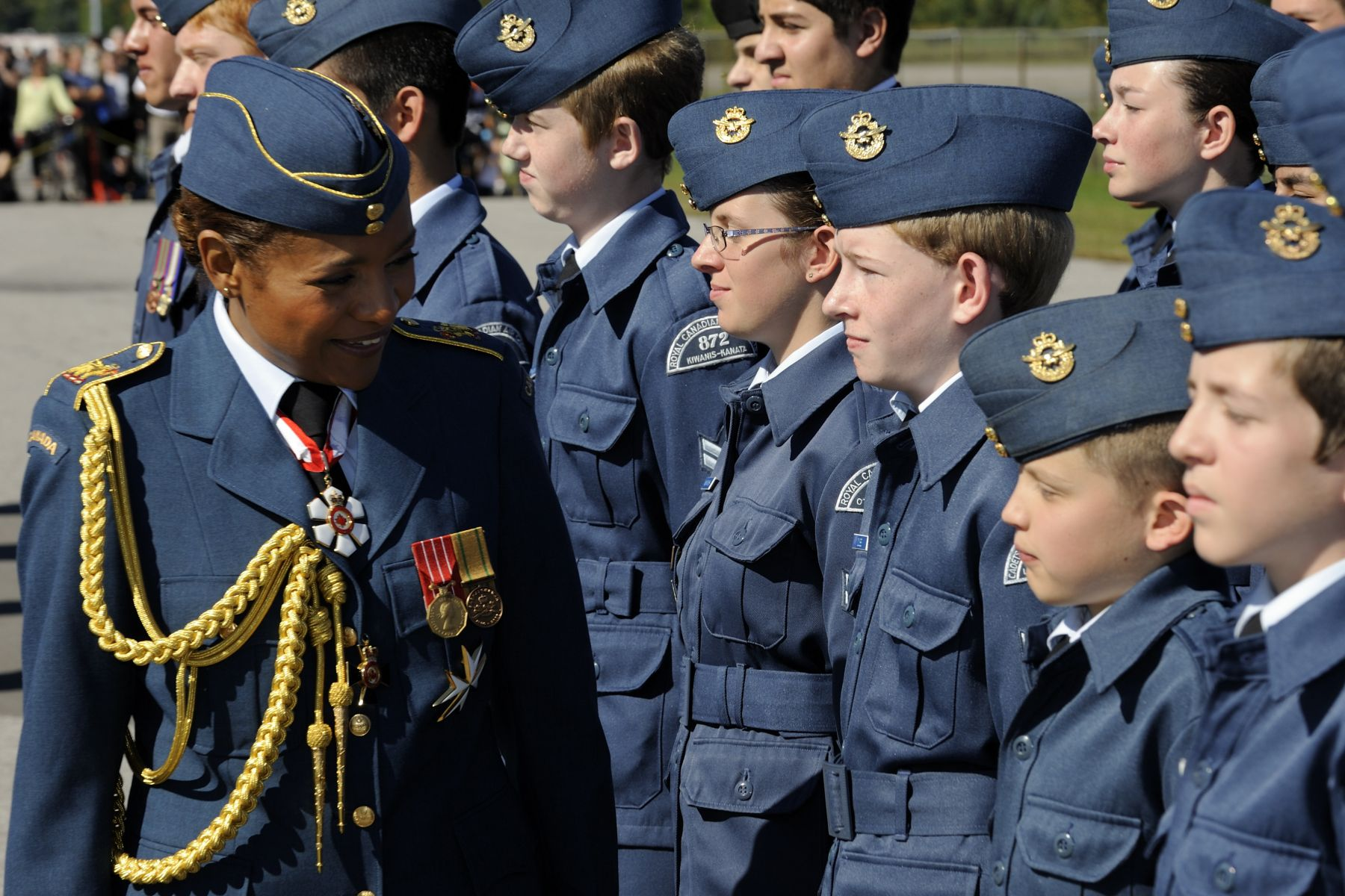 Her Excellency also inspected the Air Cadets.