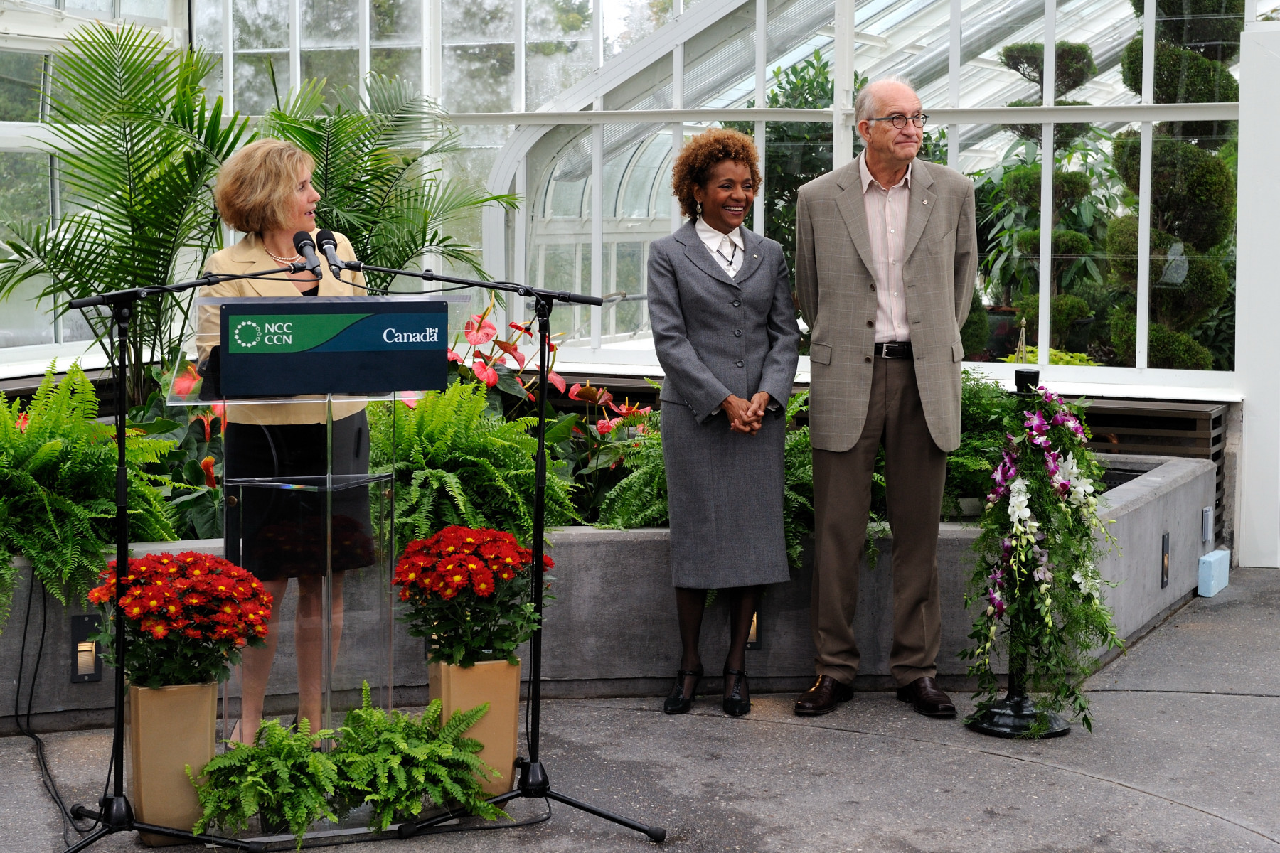 Marie Lemay, Chief Executive Officer at the NCC, happily highlighted the restoration of the Greenhouse.