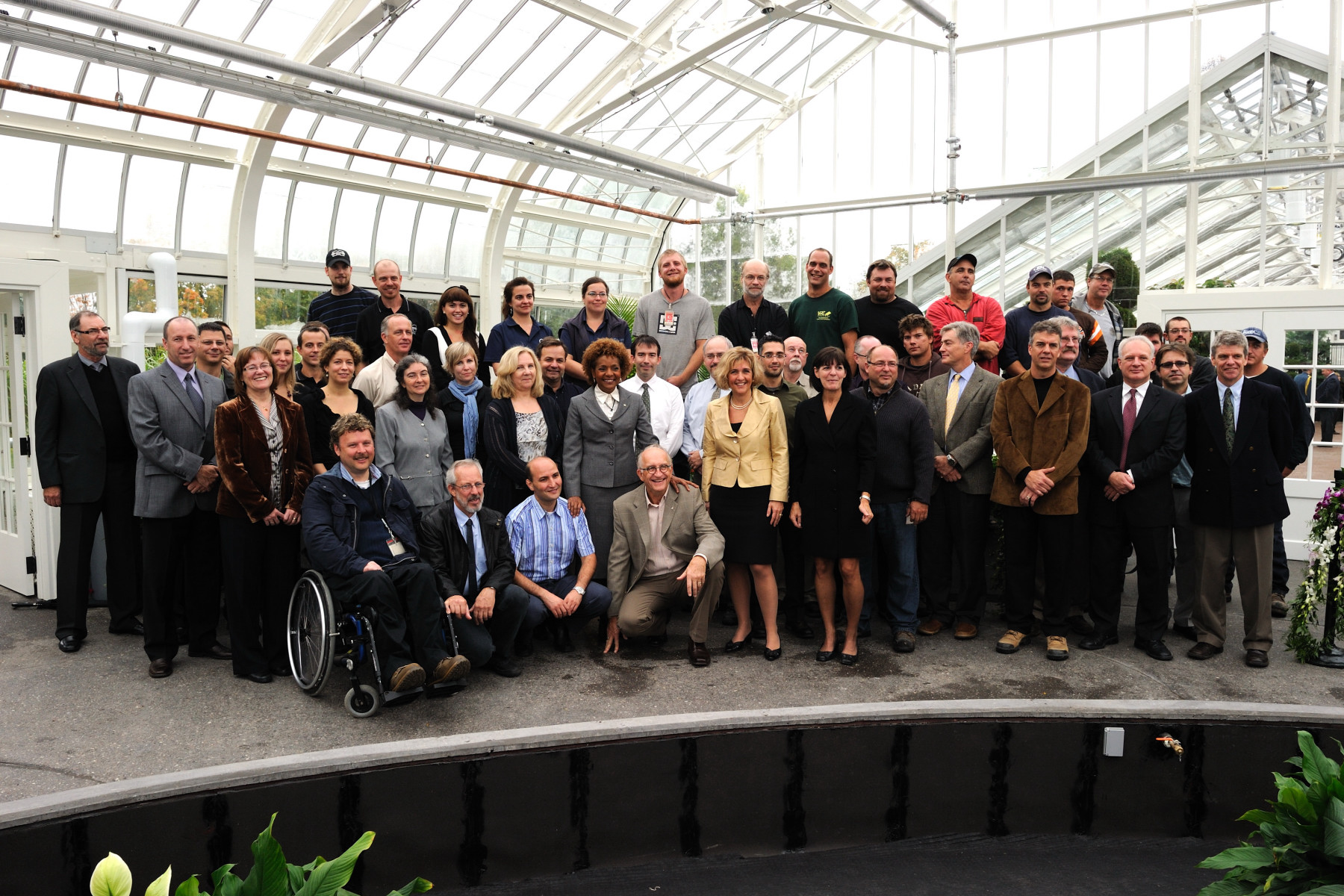 A group picture was taken with all the staff that worked on restoring one of the few tropical greenhouses in the country.