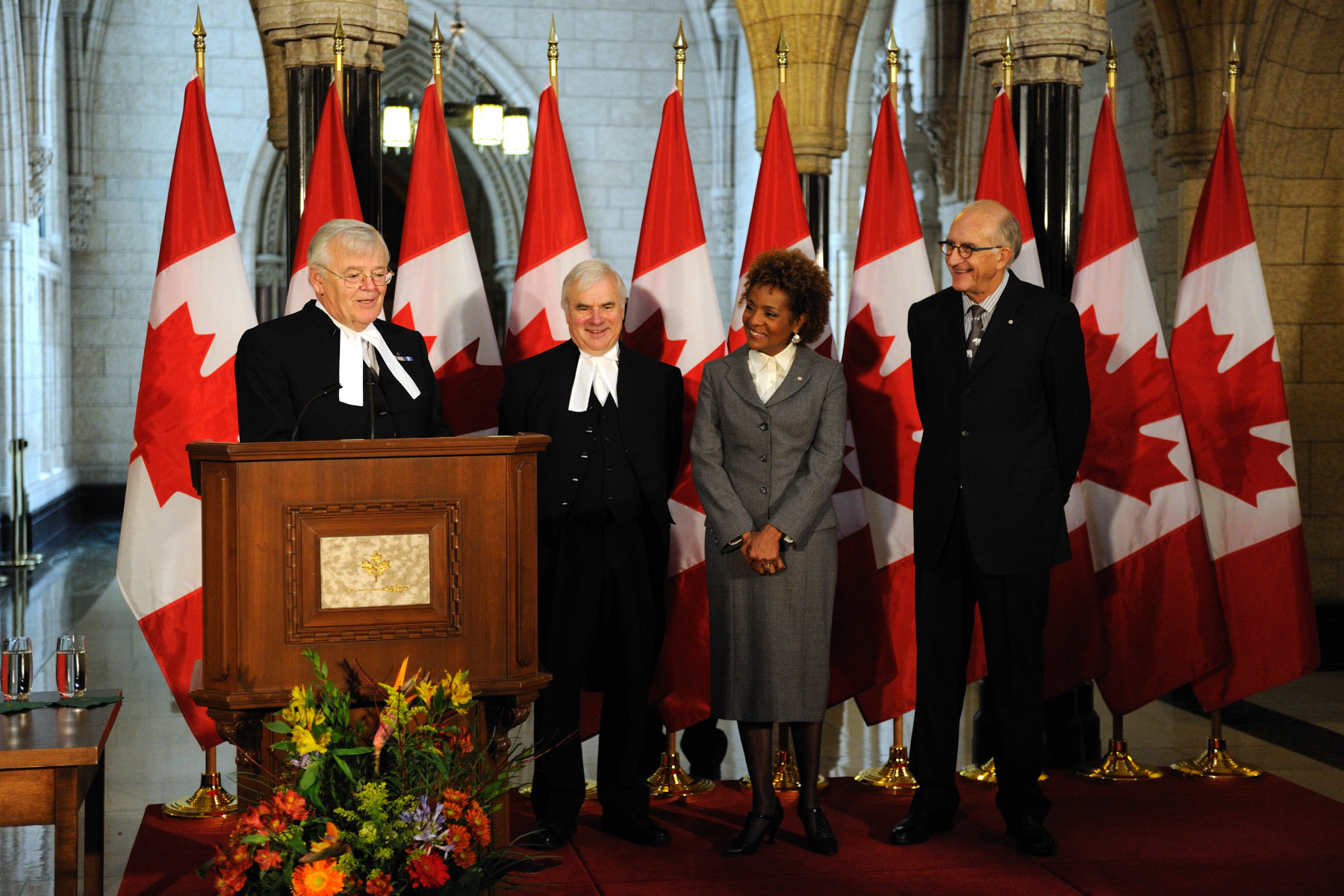 The Honourable Noël A. Kinsella offered welcoming remarks to Their Excellencies.