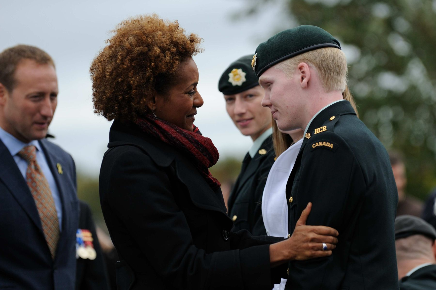 The Governor General also met with wounded soldier Private Tyler Kirbyson.