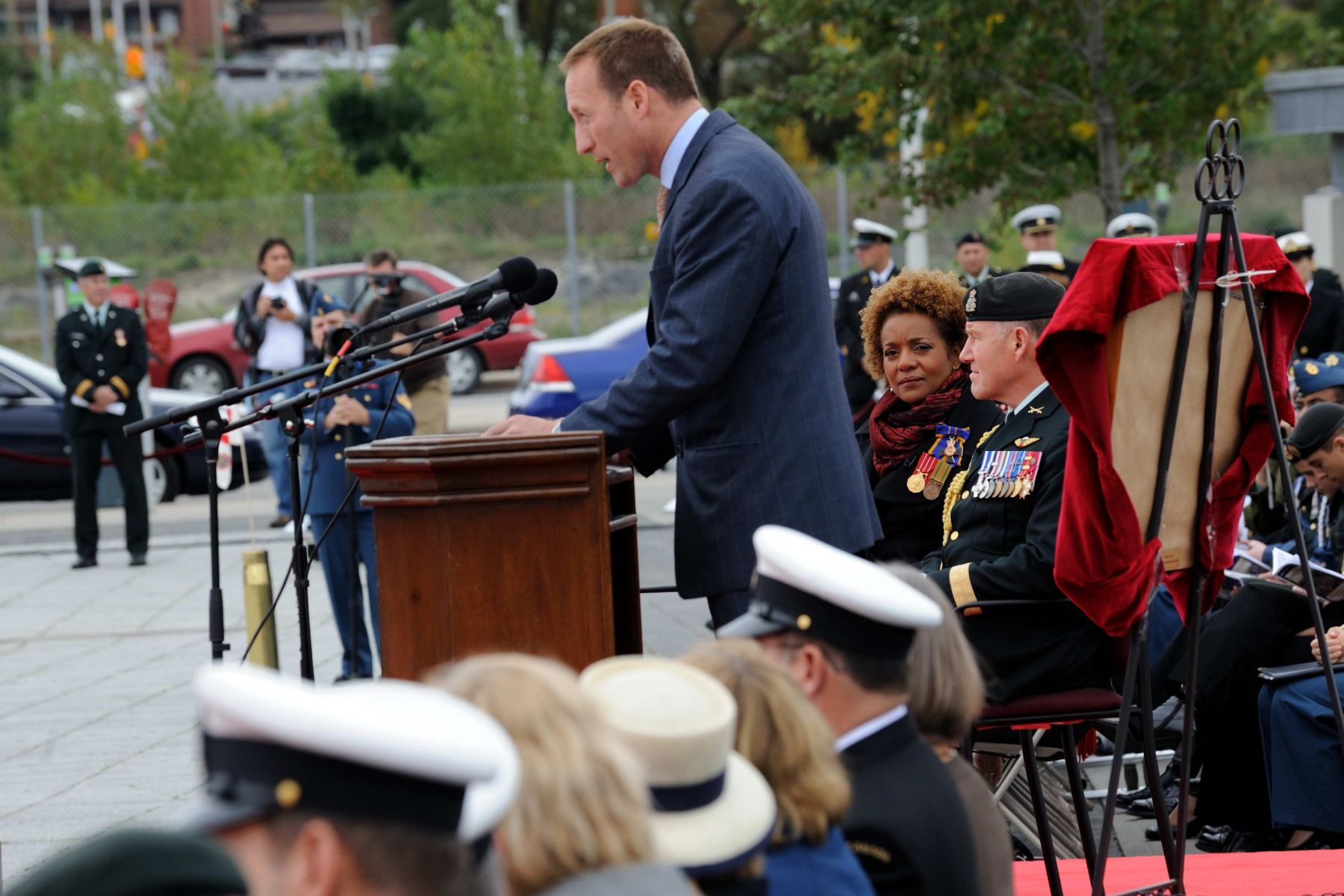 """Her Excellency was instrumental in making sure the men and women of the Canadian Forces knew the level of support and the admiration Canadians had for them,"" said the Minister of National Defence, the Honourable Peter MacKay. ""Her Excellency reminded us all of the very difficult and often dangerous work the Canadian Forces do at home and around the world on our behalf."""