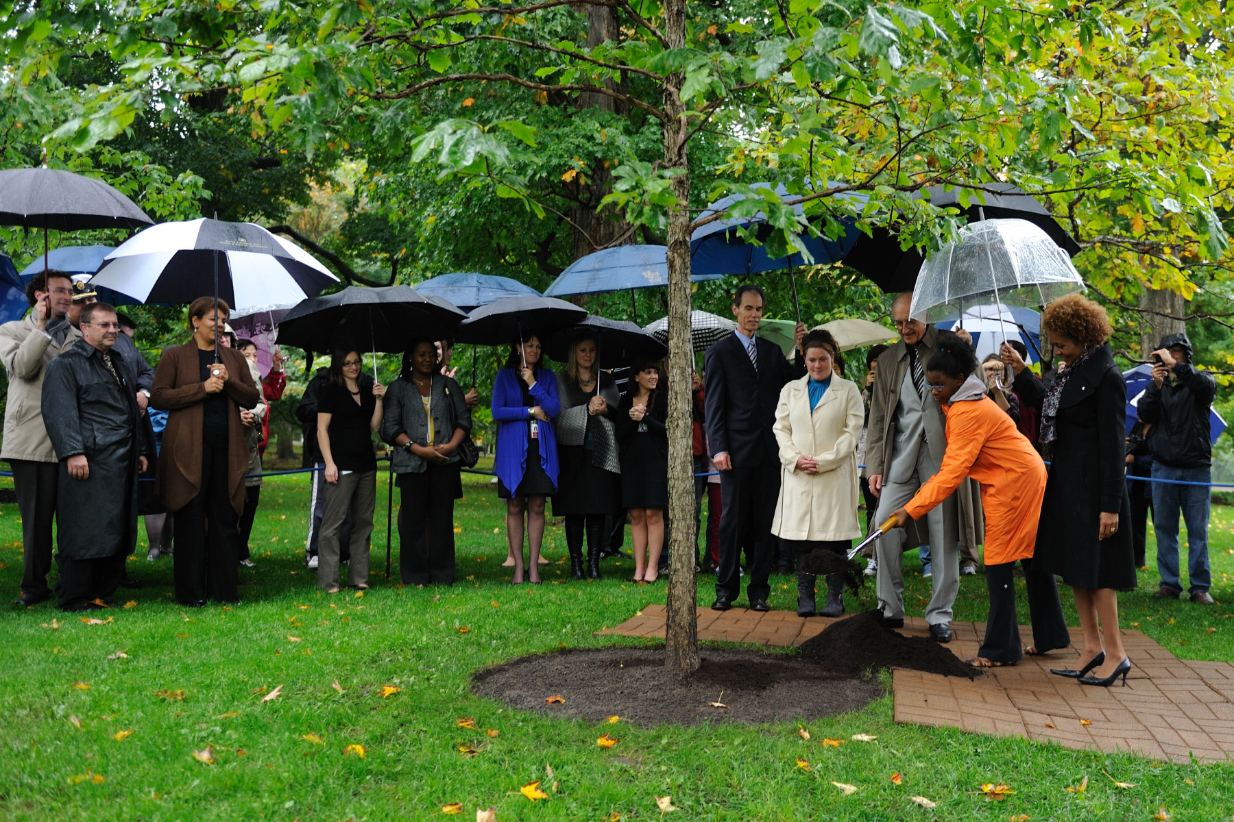 Commemorative trees mark visits by members of the Royal Family, heads of State and other dignitaries. They also are planted for special anniversaries and at the end of a governor general's mandate.