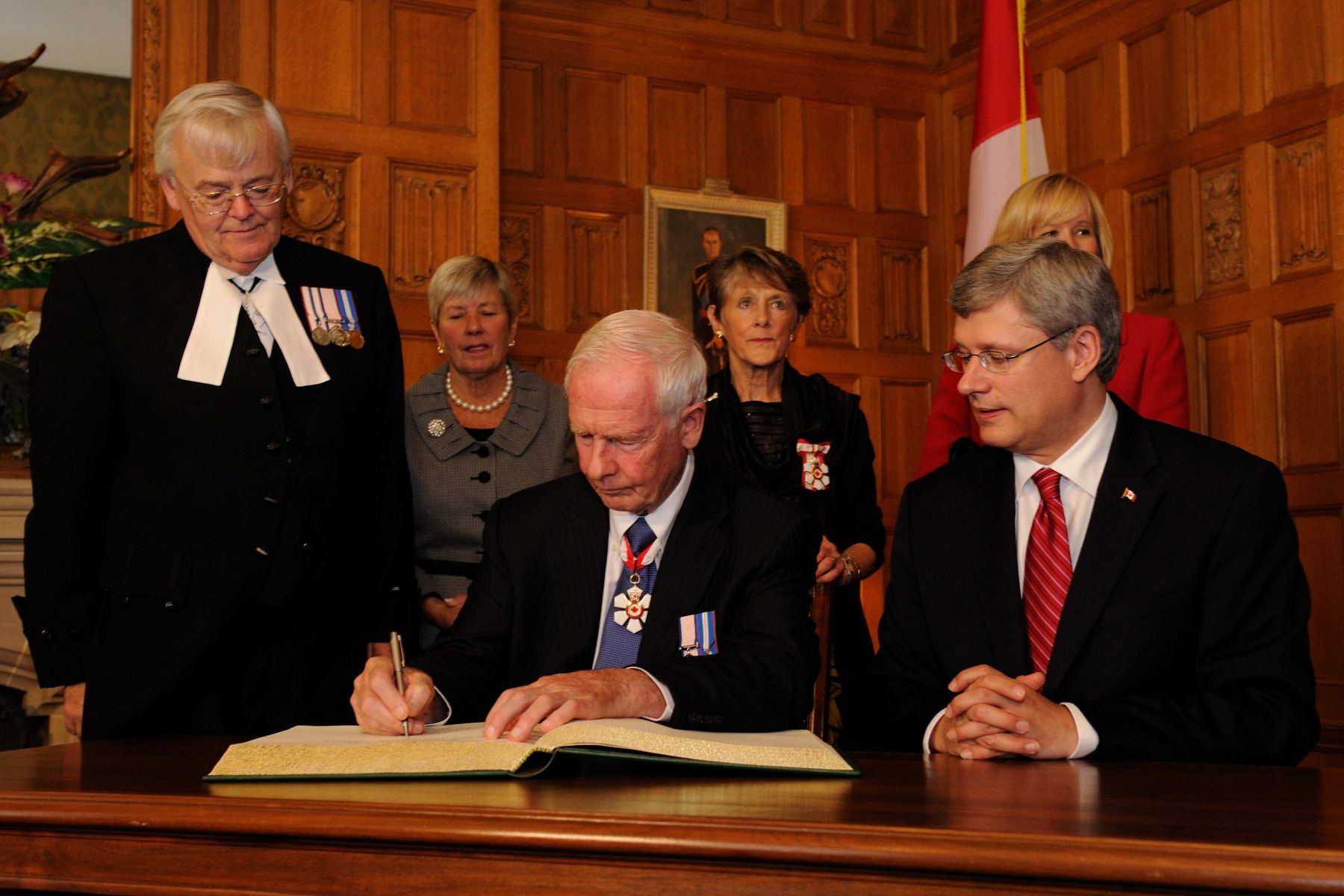 The Governor General signed the proclamation marking his accession.