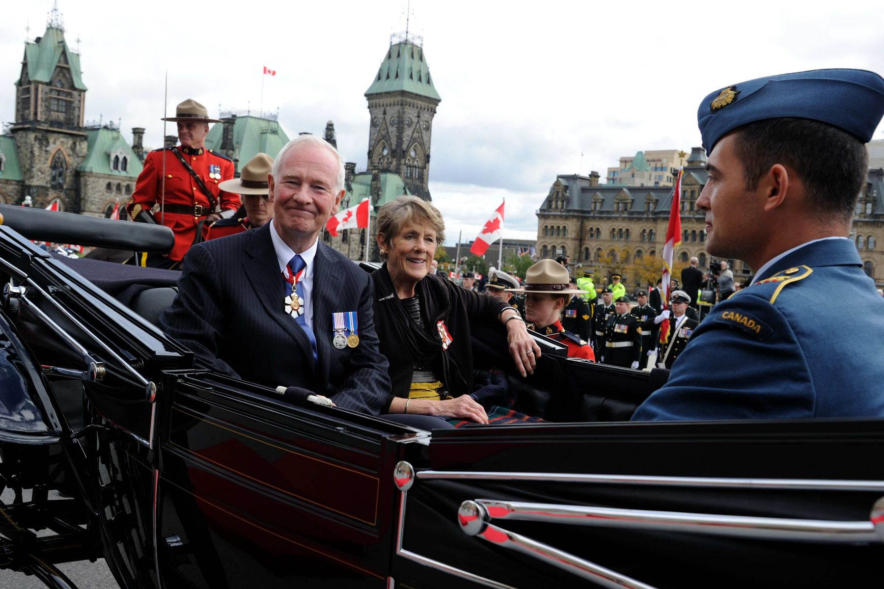 Following the installation ceremony, Their Excellencies left the Parliament in a landau.