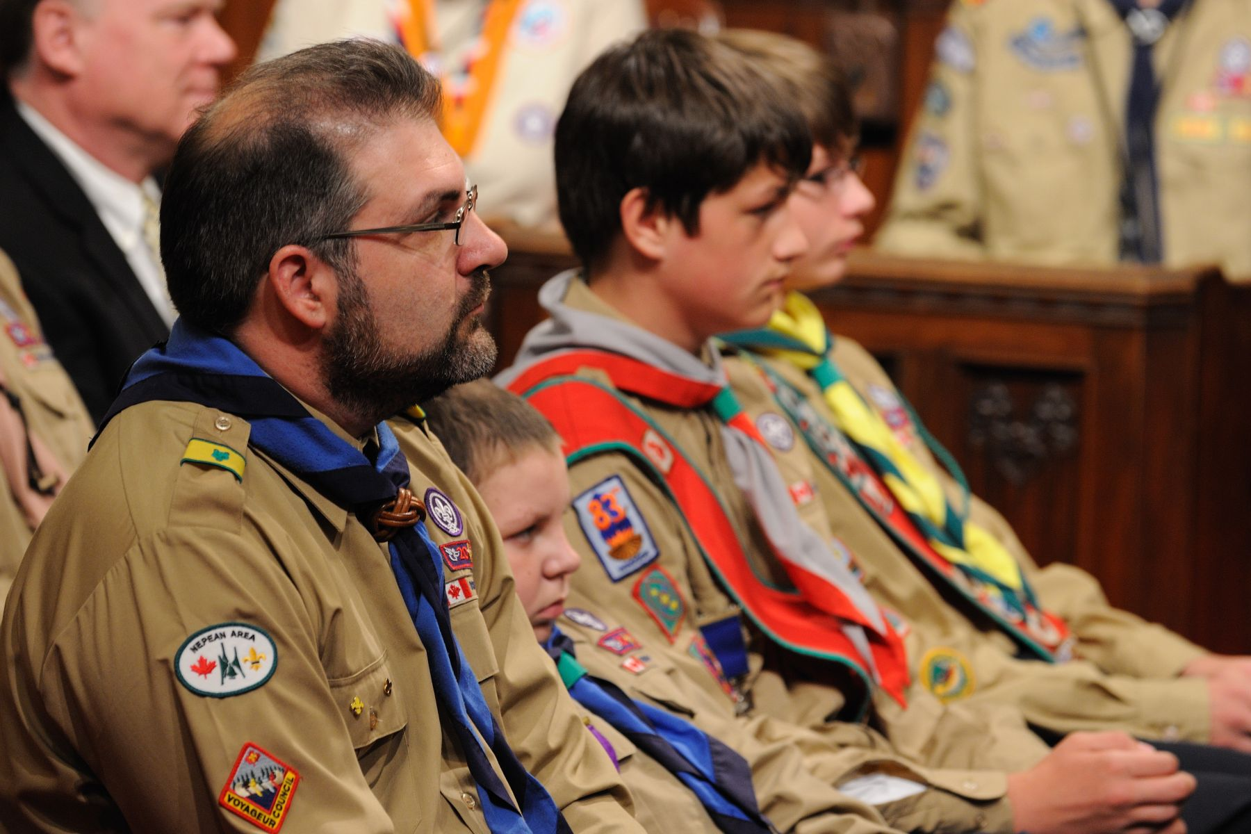 The Governor General attended the Scouts Canada National Awards Ceremony in his capacity as patron scout. Sixteen recipients of Scouts Canada's highest distinctions were celebrated.
