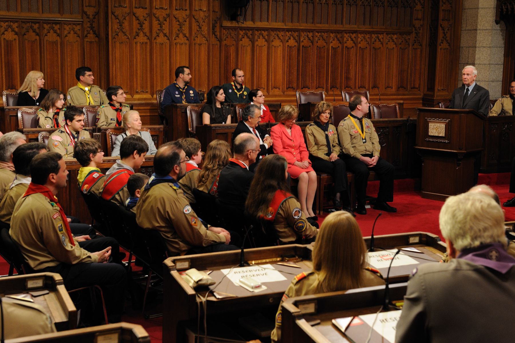 The event took place in the Senate Chamber of the Parliament of Canada.