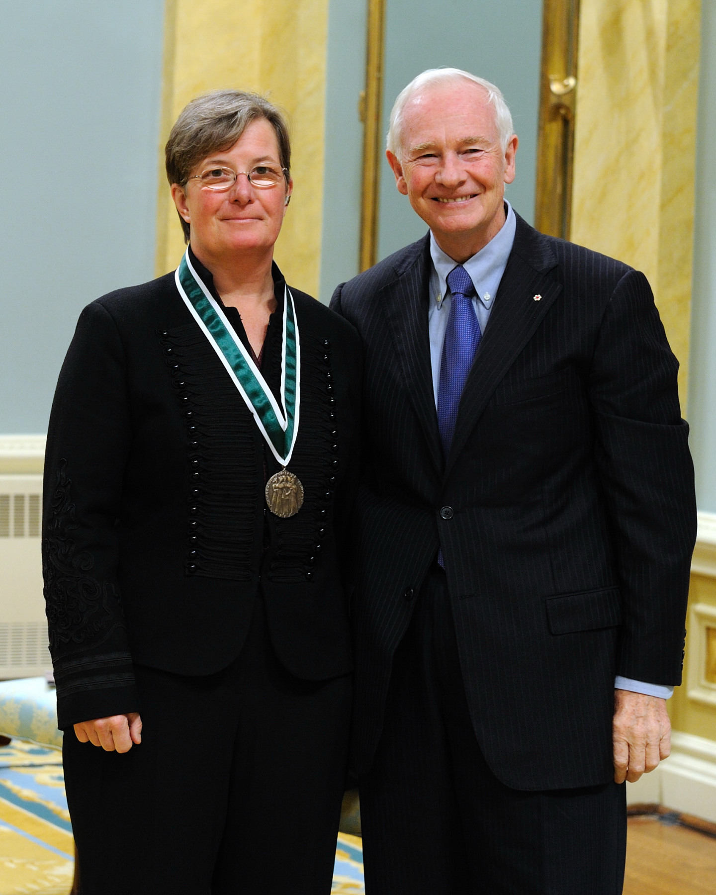 Ms. Marie Louise Fish from Elgin, Ontario, received the 2010 Governor General's Awards in Commemoration of the Persons Case. Ms. Fish developed policies and practices to enhance women's safety, and increased the representation of women on security staff.