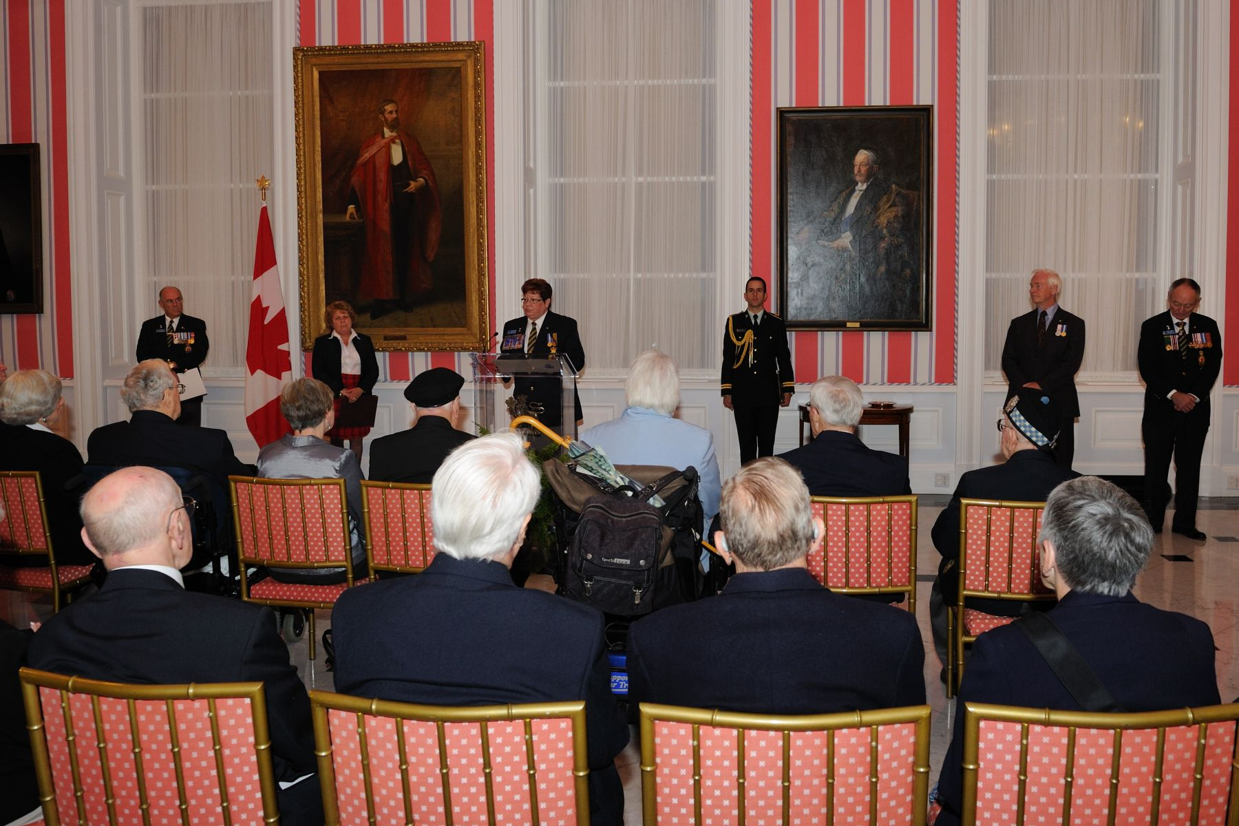 The Dominion President of the Royal Canadian Legion Ms. Patricia Varga delivered a speech on this occasion.