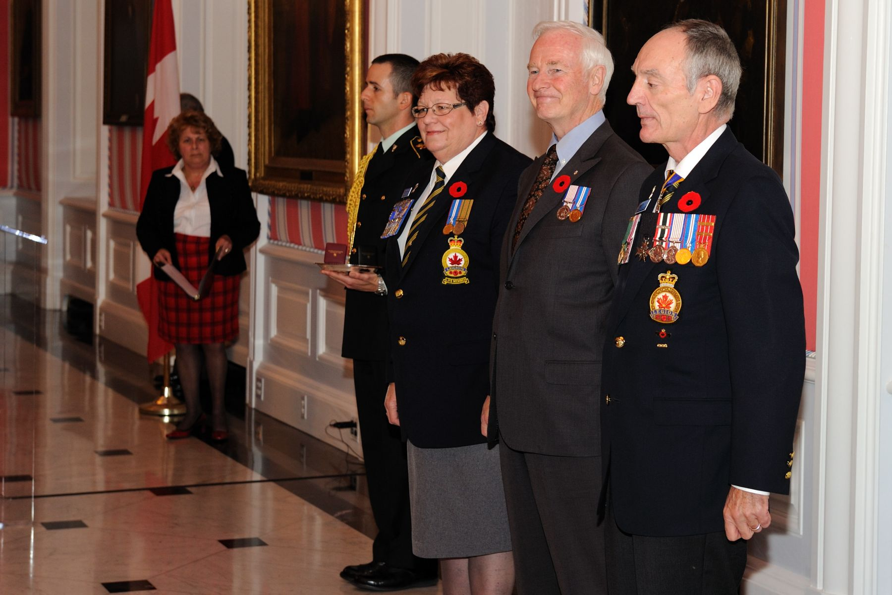 His Excellency, Ms. Varga and Mr. Murray received the first poppy of the 2010 National Campaign. Poppies will be available to the general public beginning October 29, 2010.