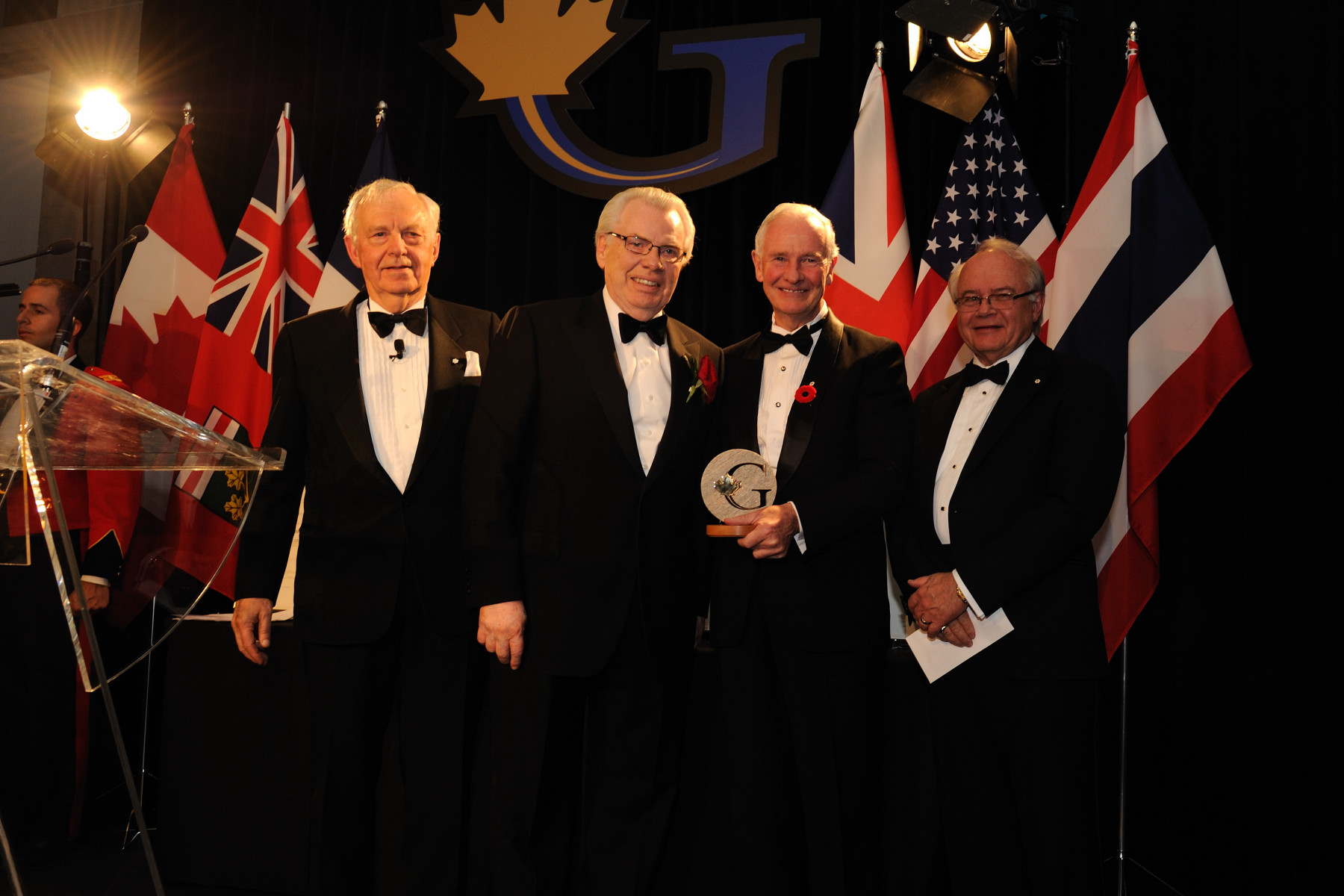 The Governor General presented the 2010 Canada Gairdner Wightman Award to Dr. Cal Stiller (left). The Canada Gairdner Wightman Award gives particular recognition to Canadian leaders in medical science.