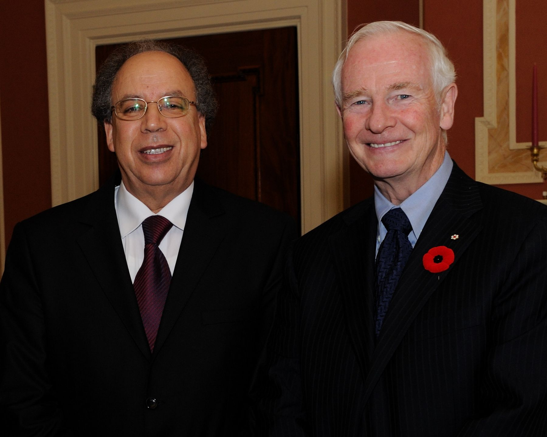 His Excellency the Right Honourable David Johnston, Governor General of Canada, received the credentials of His Excellency Dr. Abdulrahman Mohamed Ali Abututa, Ambassador of the Great Socialist People's Libyan Arab Jamahiriya.