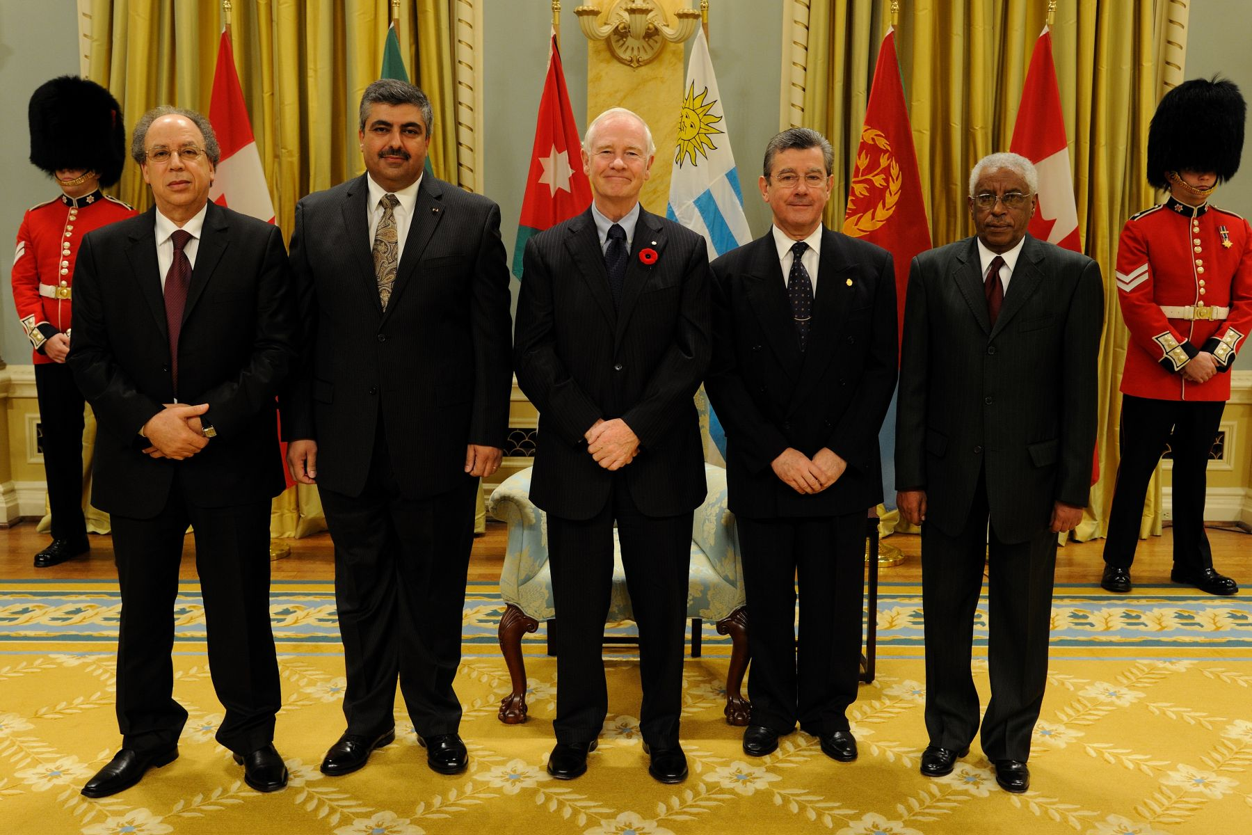 His Excellency the Right Honourable David Johnston, Governor General of Canada, received the credentials of four new ambassadors on Friday, October 29, 2010.