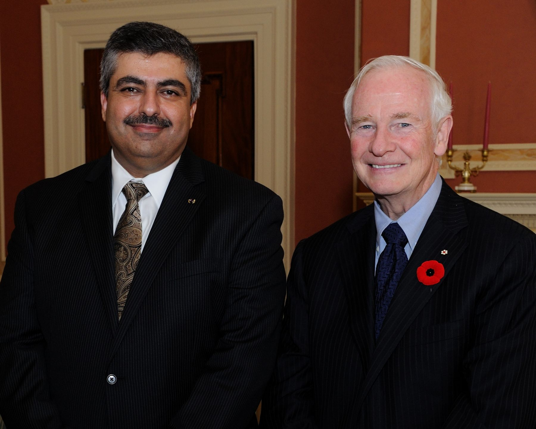 His Excellency the Right Honourable David Johnston, Governor General of Canada, received the credentials of His Excellency Basheer Fawwaz Zoubi, Ambassador of the Hashemite Kingdom of Jordan.