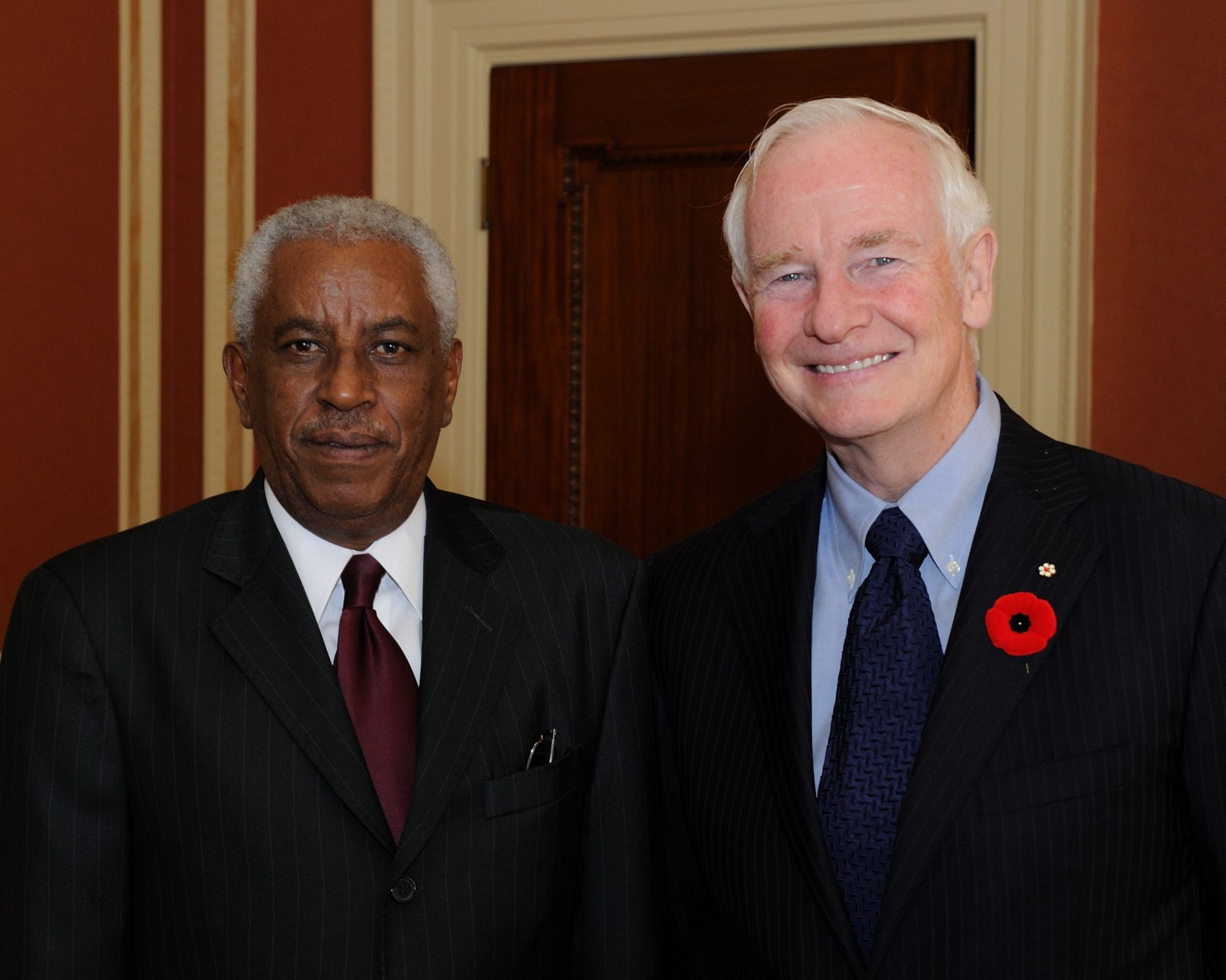 His Excellency the Right Honourable David Johnston, Governor General of Canada, received the credentials of His Excellency Ghirmai Ghebremariam, Ambassador of the State of Eritrea.