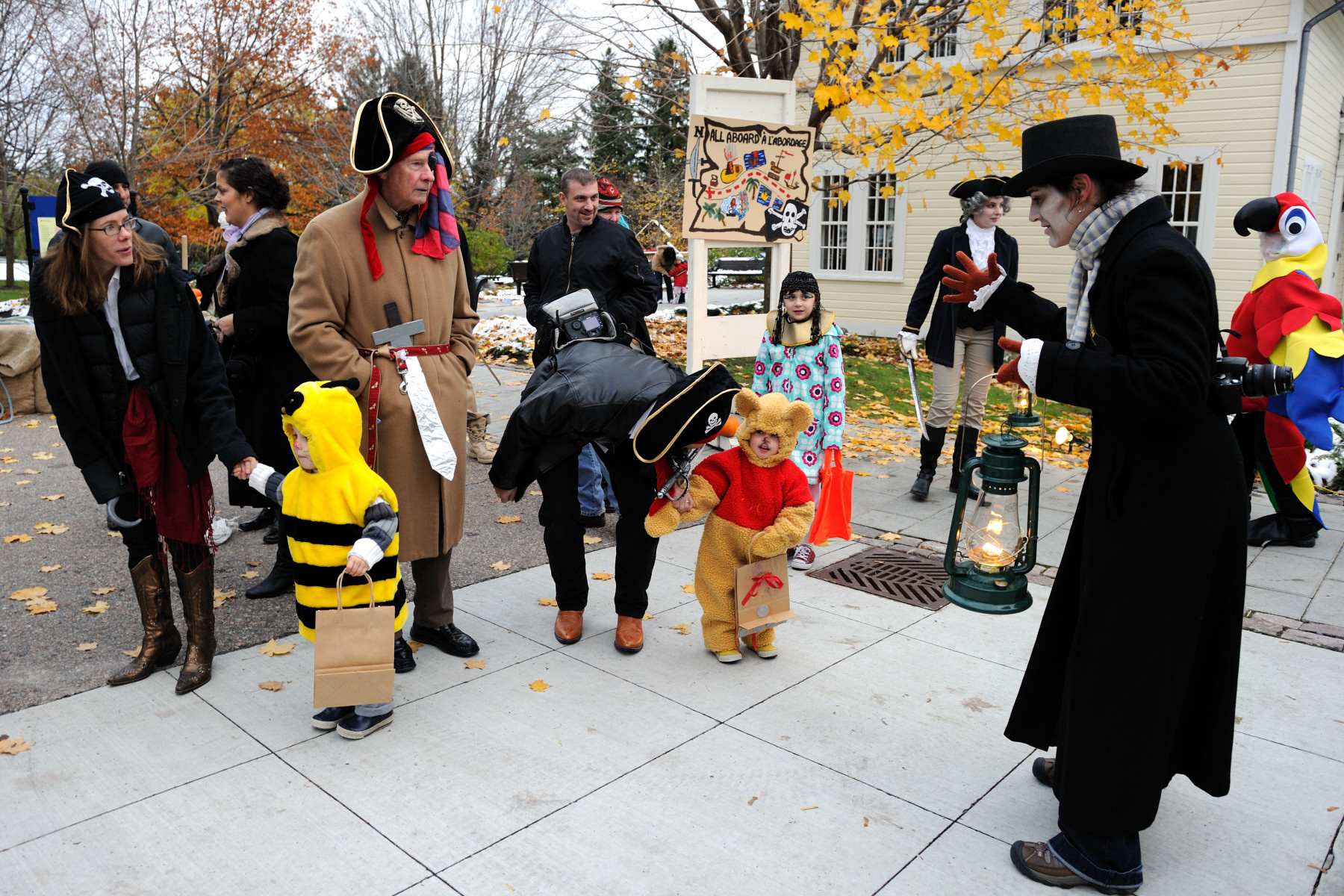 "His Excellency and Rideau Hall staff disguised themselves in the spirit of the night's theme ""Pirates, All Aboard!""."