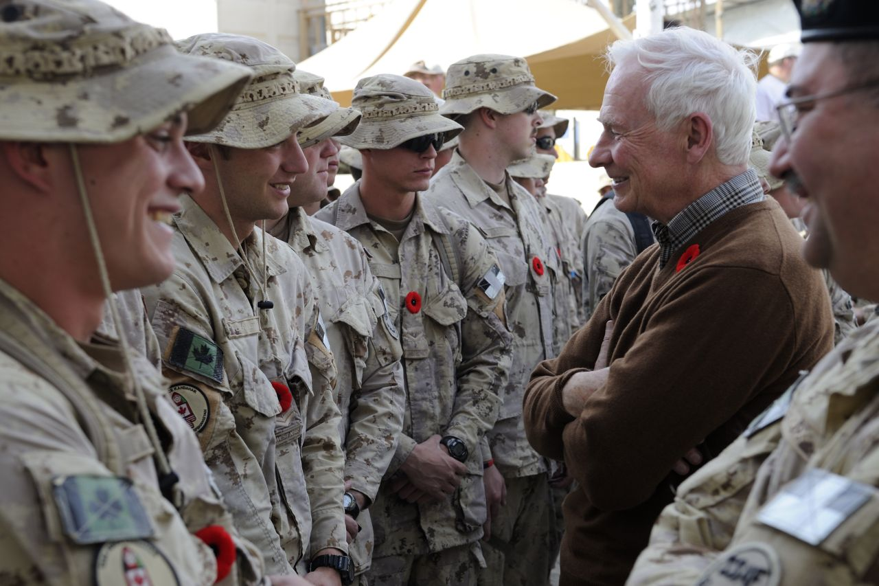 He visited the Kandahar Provincial Reconstruction Team to gain a first-hand understanding of the work conducted by Canadians military and civilians.