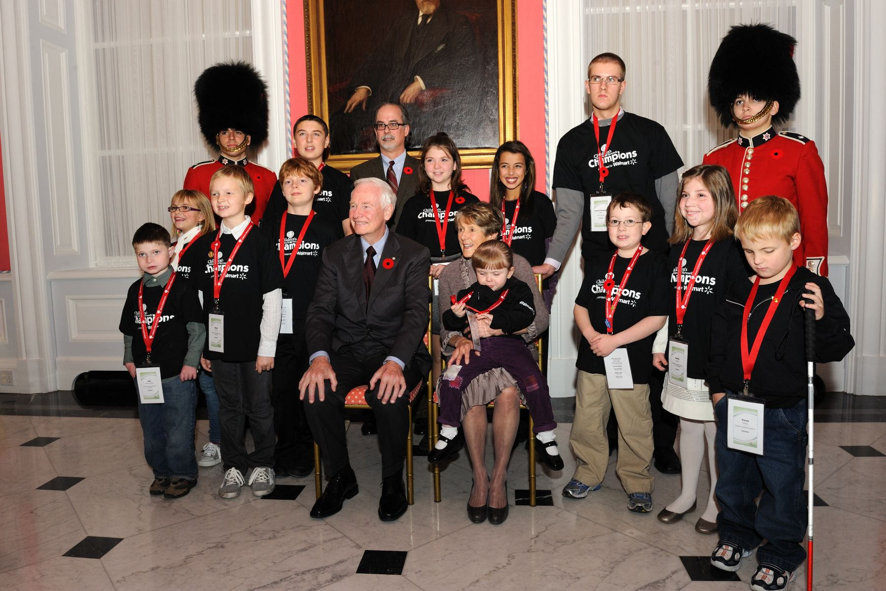 The reception was for Canadian children and families of the Children's Miracle Network Champions Program, which honours remarkable children from Canada and the United States who have triumphed despite severe medical challenges.