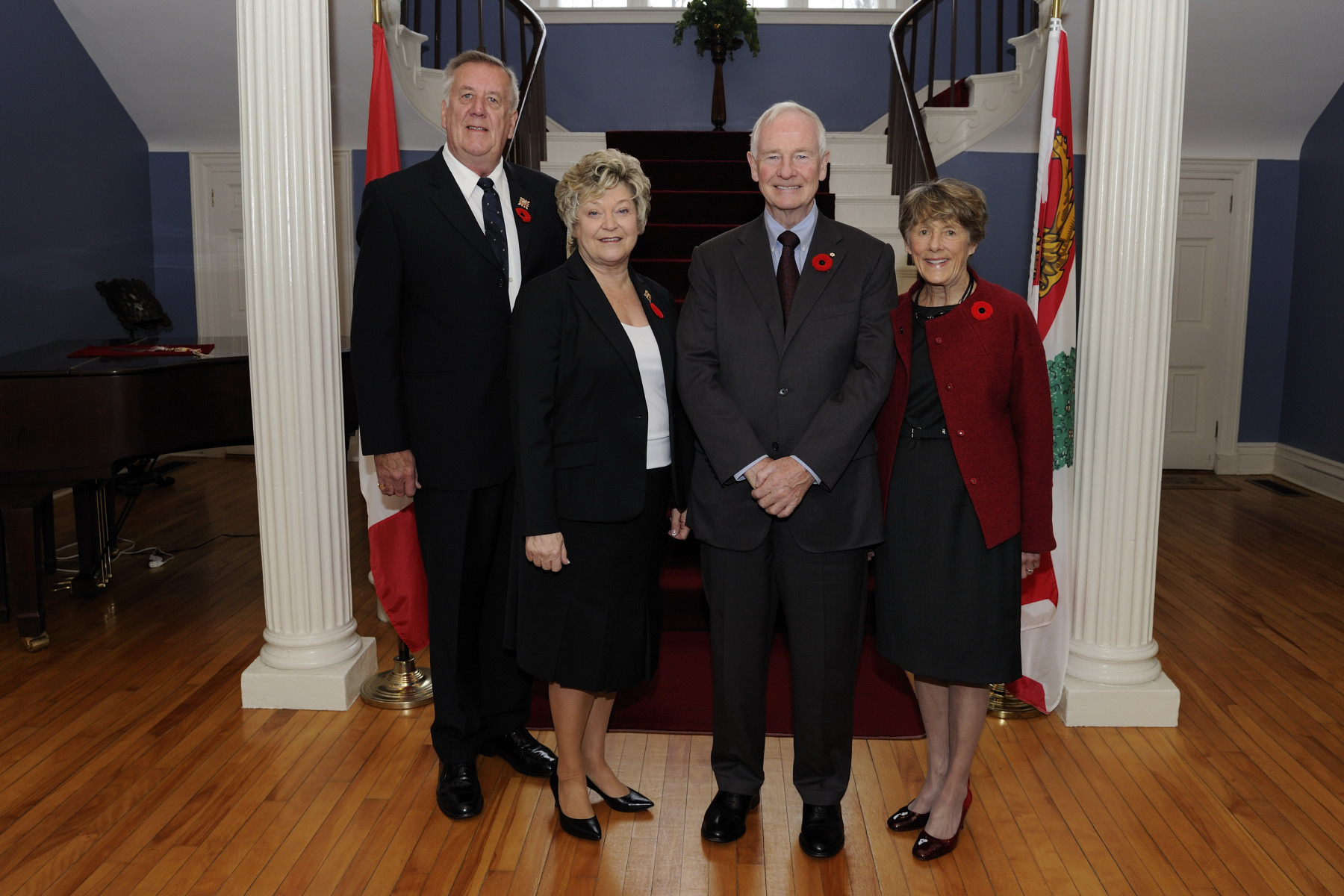 Upon their arrival in Prince Edward Island, Their Excellencies the Right Honourable David Johnston, Governor General of Canada, and Mrs. Sharon Johston met with Their Honours the Honourable Barbara A. Hagerman, Lieutenant-Governor of Prince Edward Island, and Mr. Nelson Hagerman at Government House in Charlottetown.