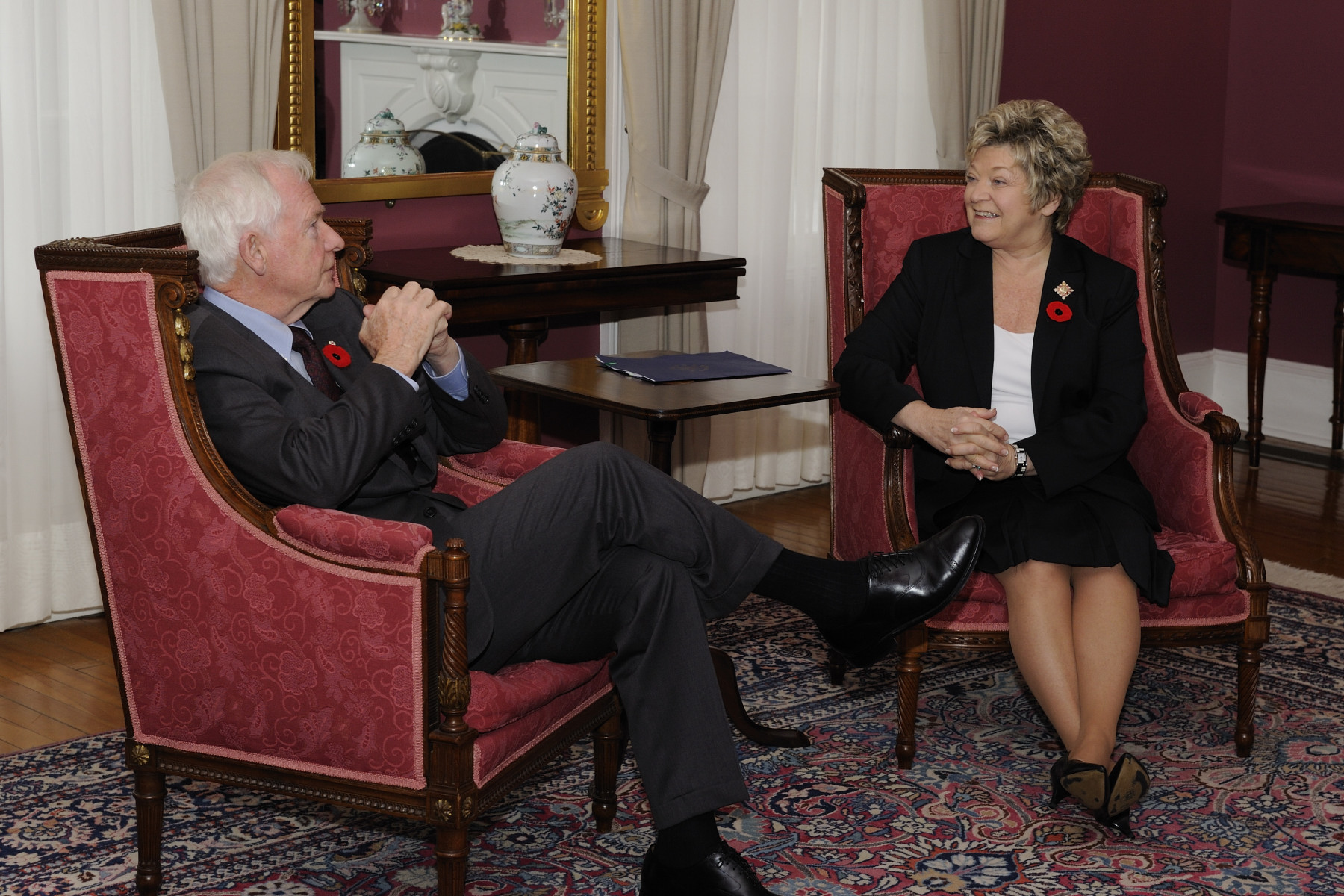 The meeting between the Governor General and the Lieutenant Governor was held at Government House in Charlottetown.