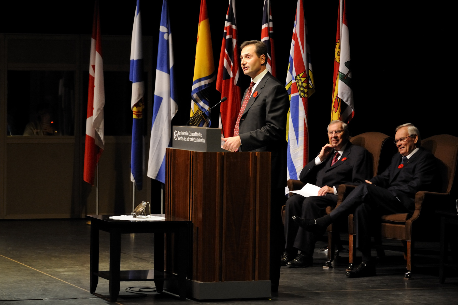 The Honourable Robert W.J. Ghiz, Premier of Prince Edward Island, paid tribute to the Governor General.