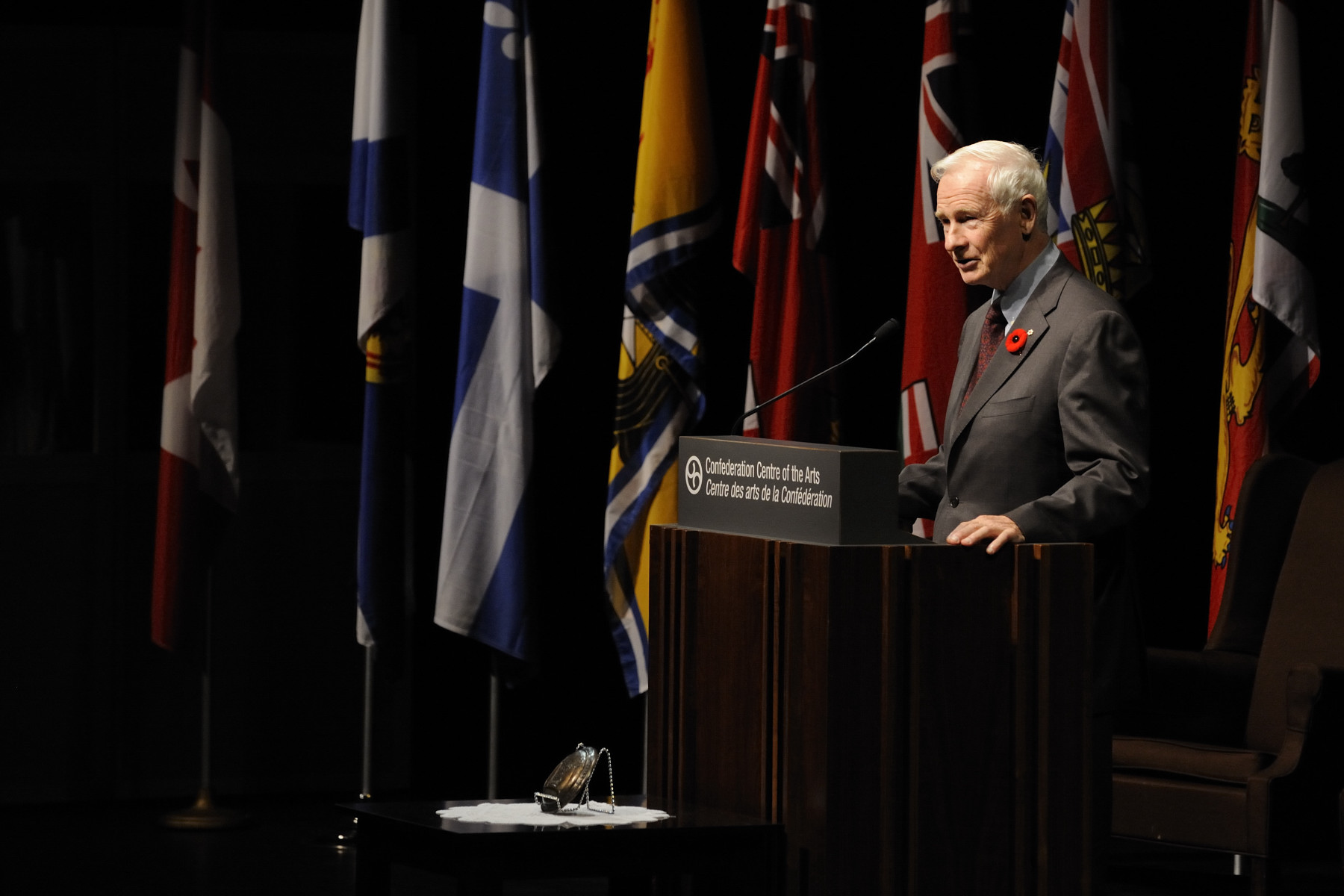 "The Governor General then delivered the lecture entitled ""A Smart and Caring Nation: A Call to Service."" A question-period with the audience followed his address."