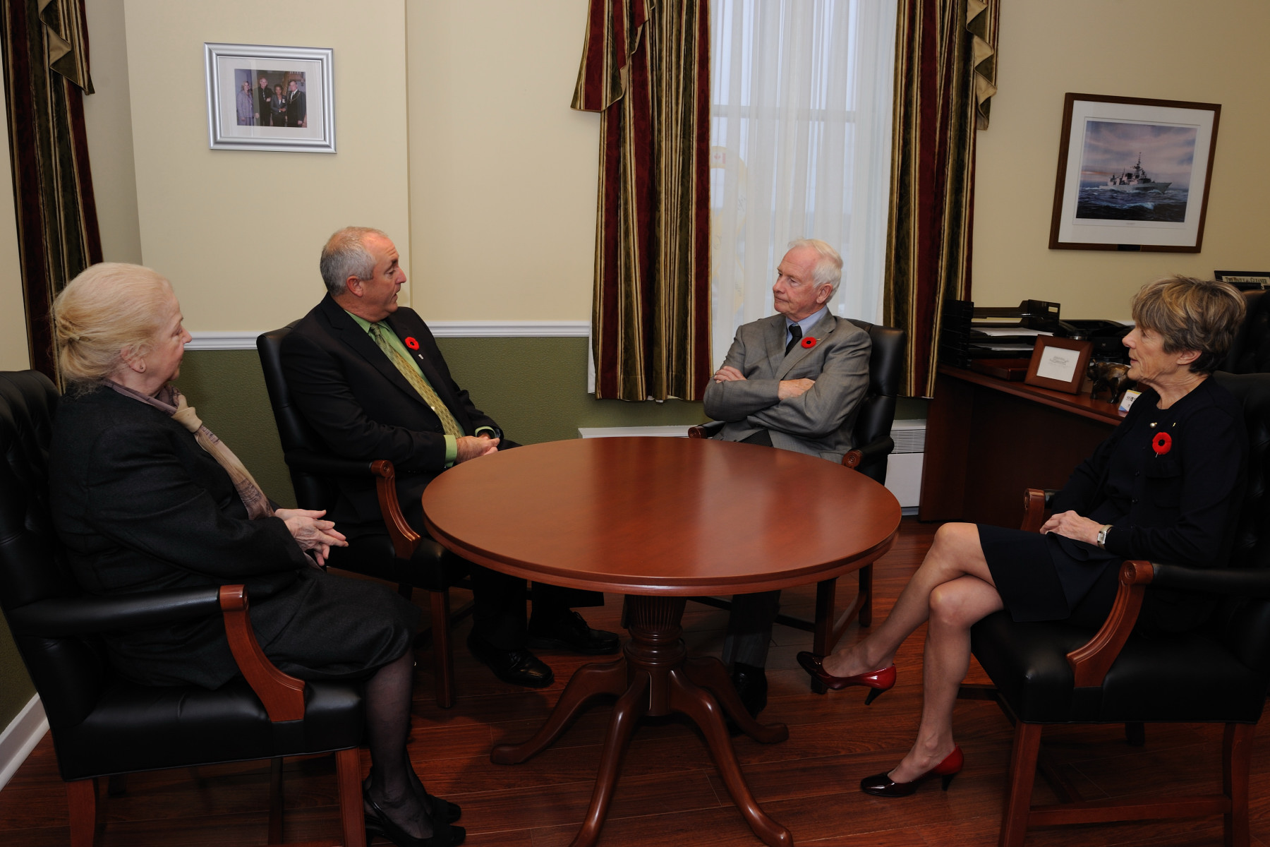 Their Excellencies along with the Secretary to the Governor General Ms. Sheila-Marie Cook (left) had a meeting with Deputy Mayor of Fredericton Mr. Dan R. Keenan inside City Hall.