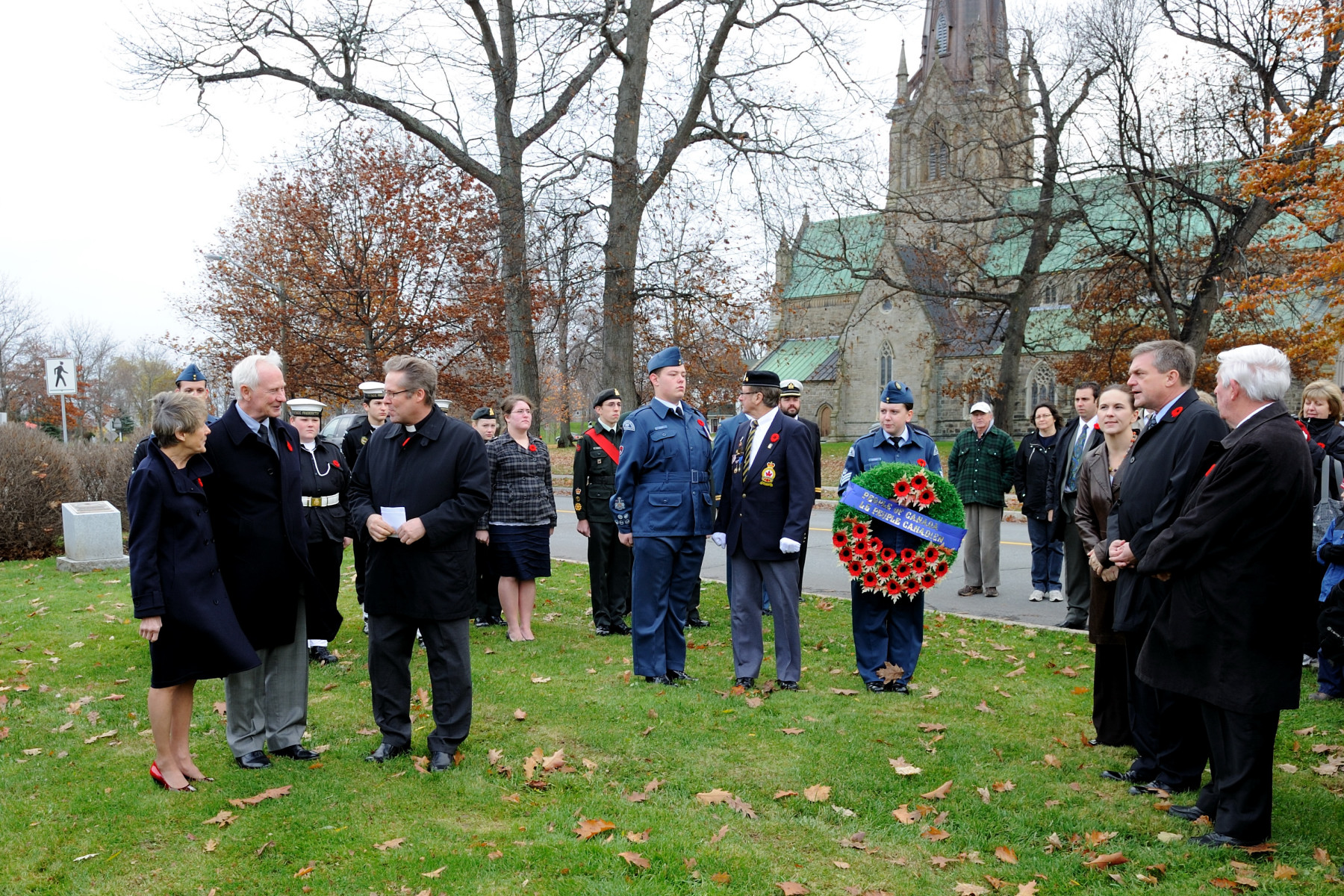 On the eve of Remembrance Day, Their Excellencies laid a wreath at Fredericton's Provincial Cenotaph.