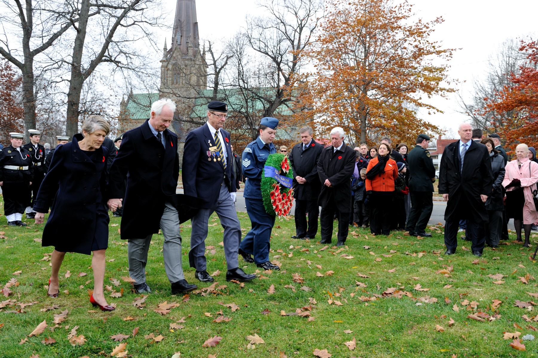 The wreath was laid on behalf of the people of Canada.