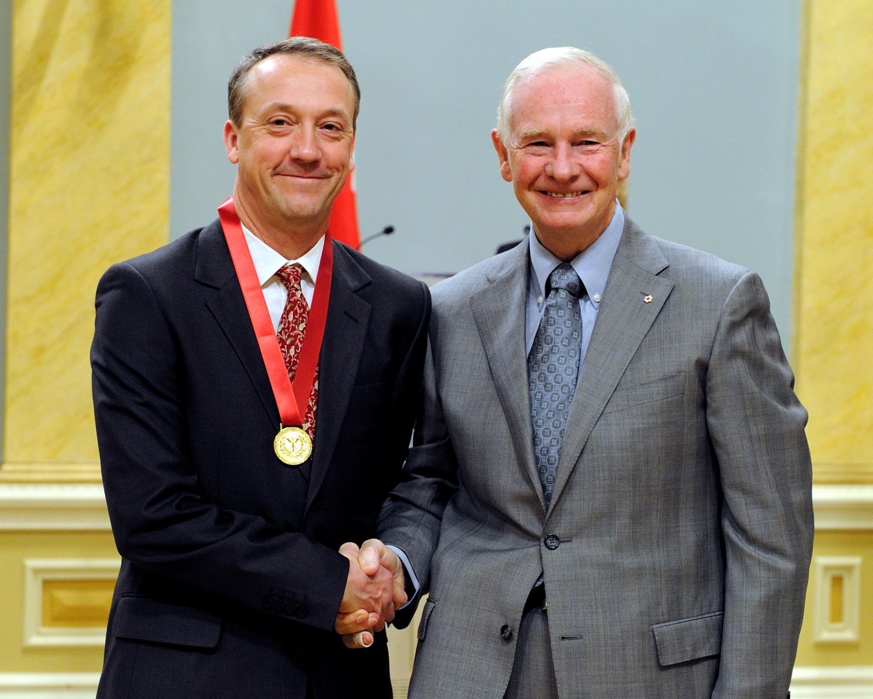 Mr. Adrian Charles French from Mount Douglas Secondary School in Victoria in British Columbia, received the Governor General's Awards for Excellence in Teaching Canadian History for his innovative and interactive teaching concepts.