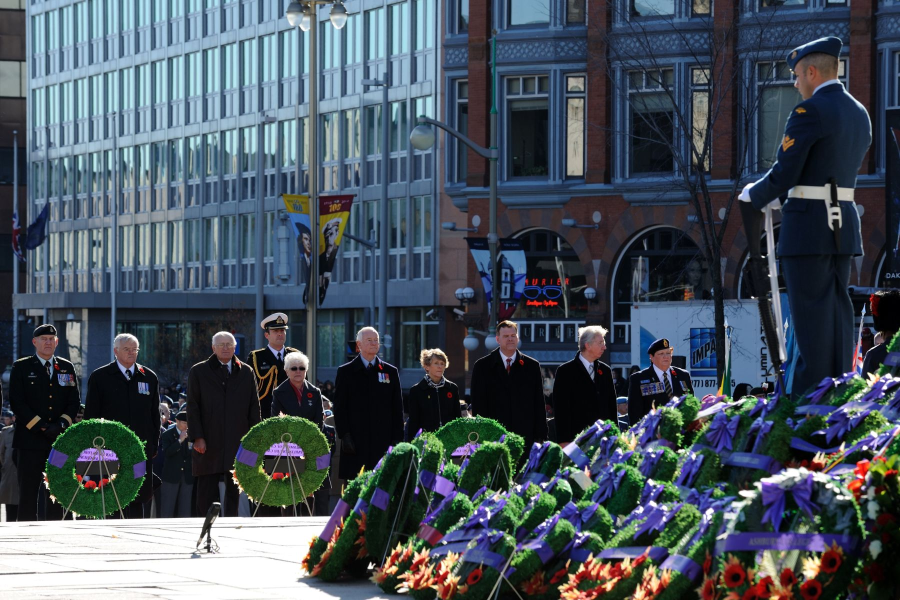 The Right Honourable David Johnston and Mrs Sharon Johnston participated in their first National Remembrance Day Ceremony since he became Governor General.