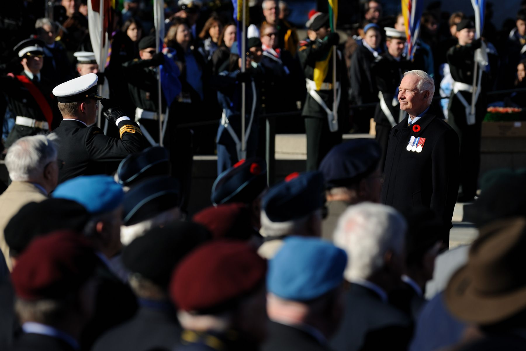 Upon his arrival at the National War Memorial, in Ottawa, he received a vice-regal salute.